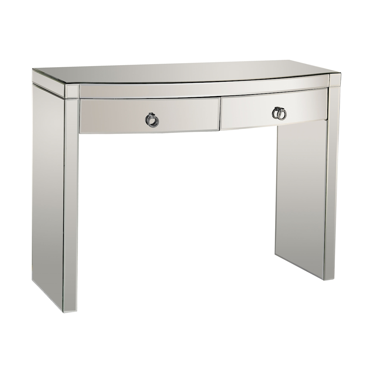 Claire 2-Drawer Console with Bow-Front Mirrored Drawers | Elk Home