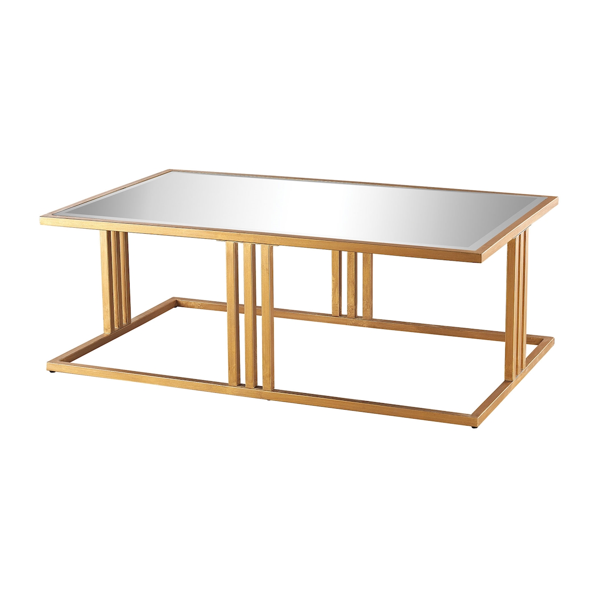 Andy Coffee Table in Gold Leaf and Clear Mirror | Elk Home