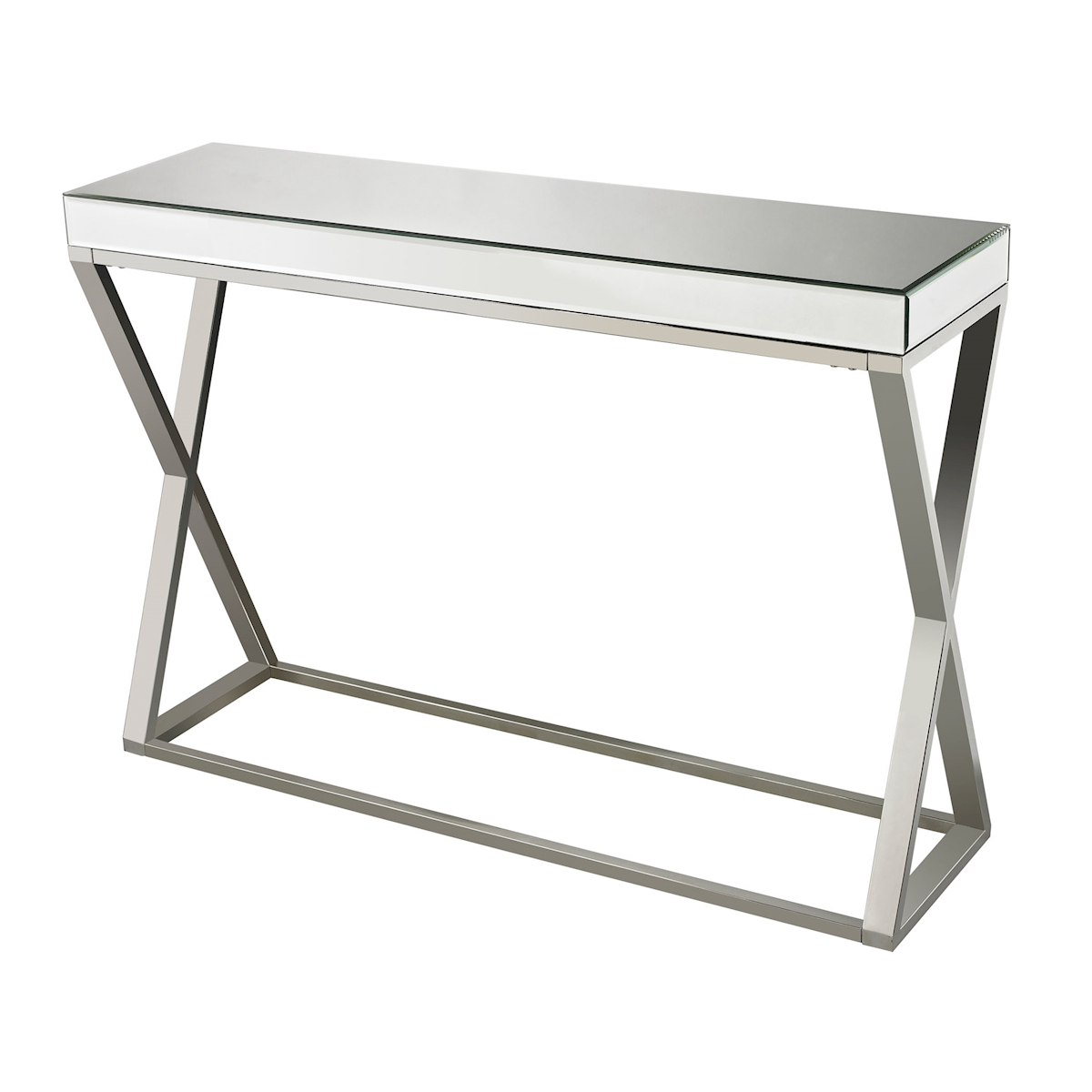 Klein Console Table in Mirror and Stainless | Elk Home