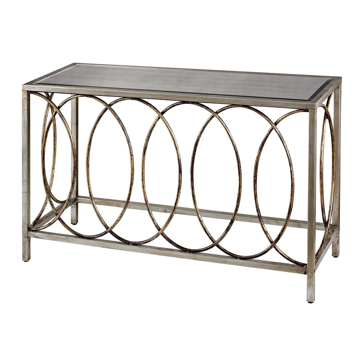 Retford Rings Console Table with Mirrored Top | Elk Home