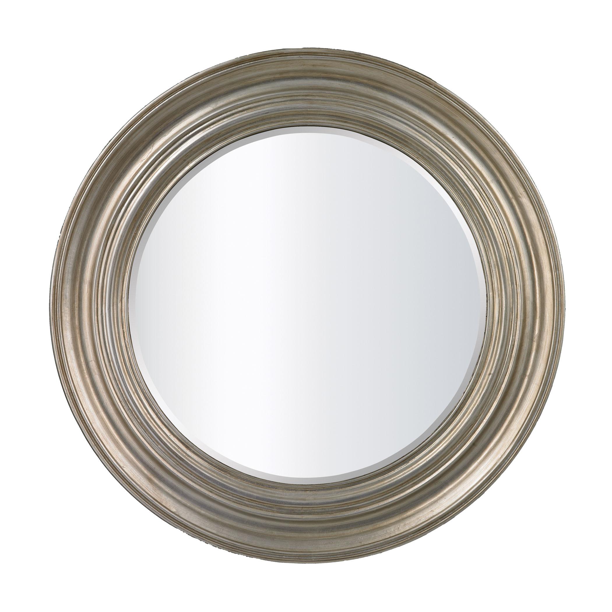 Round Mirror in Antique Silver Leaf | Elk Home