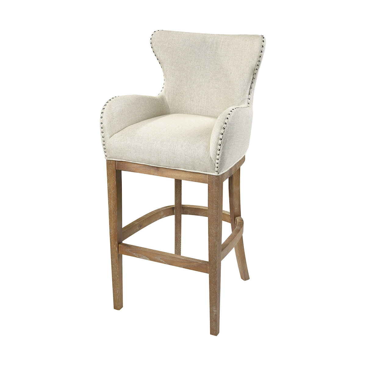 Roxie Cream Linen Bar Chair | Elk Home