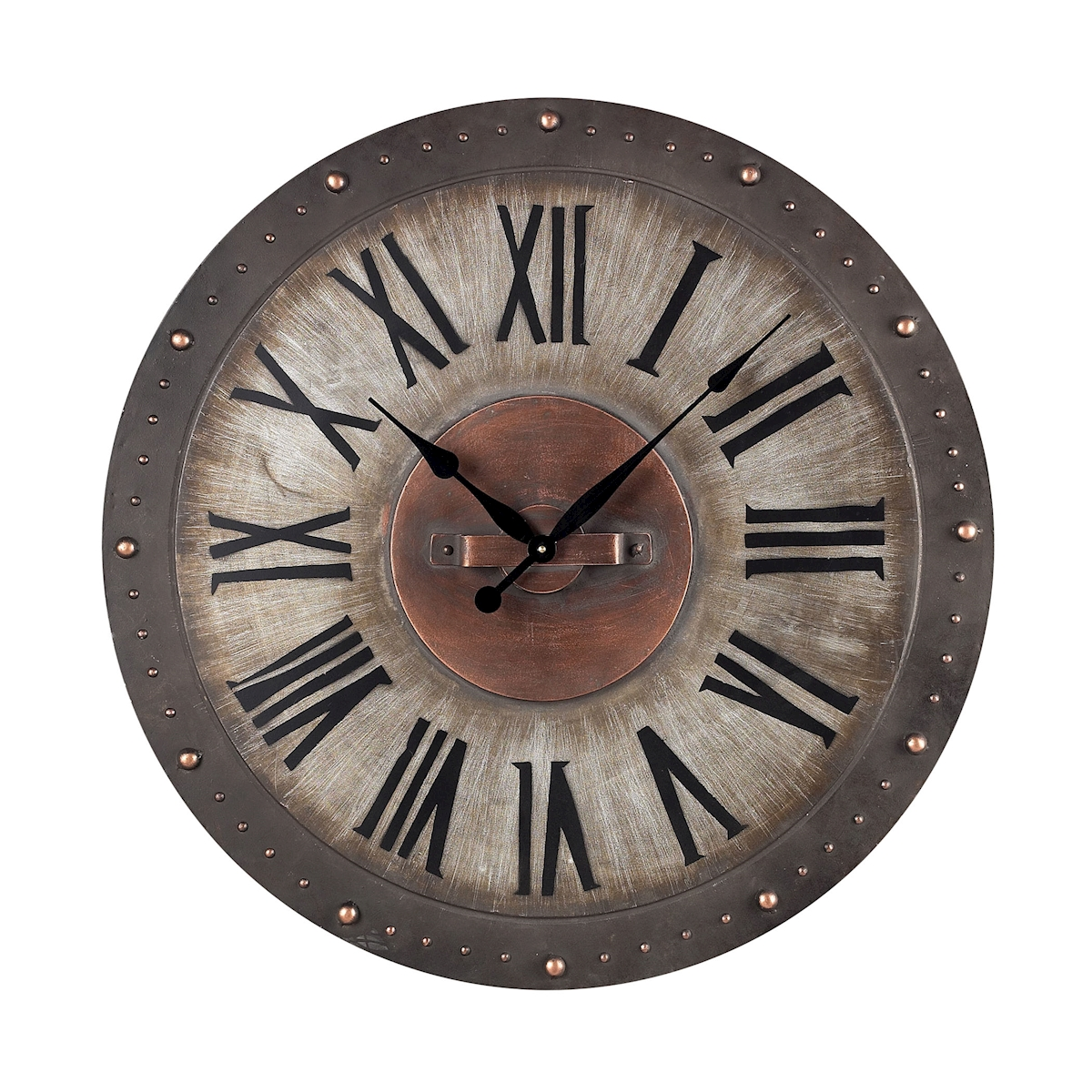 Metal Roman Numeral Outdoor Wall Clock. | Elk Home