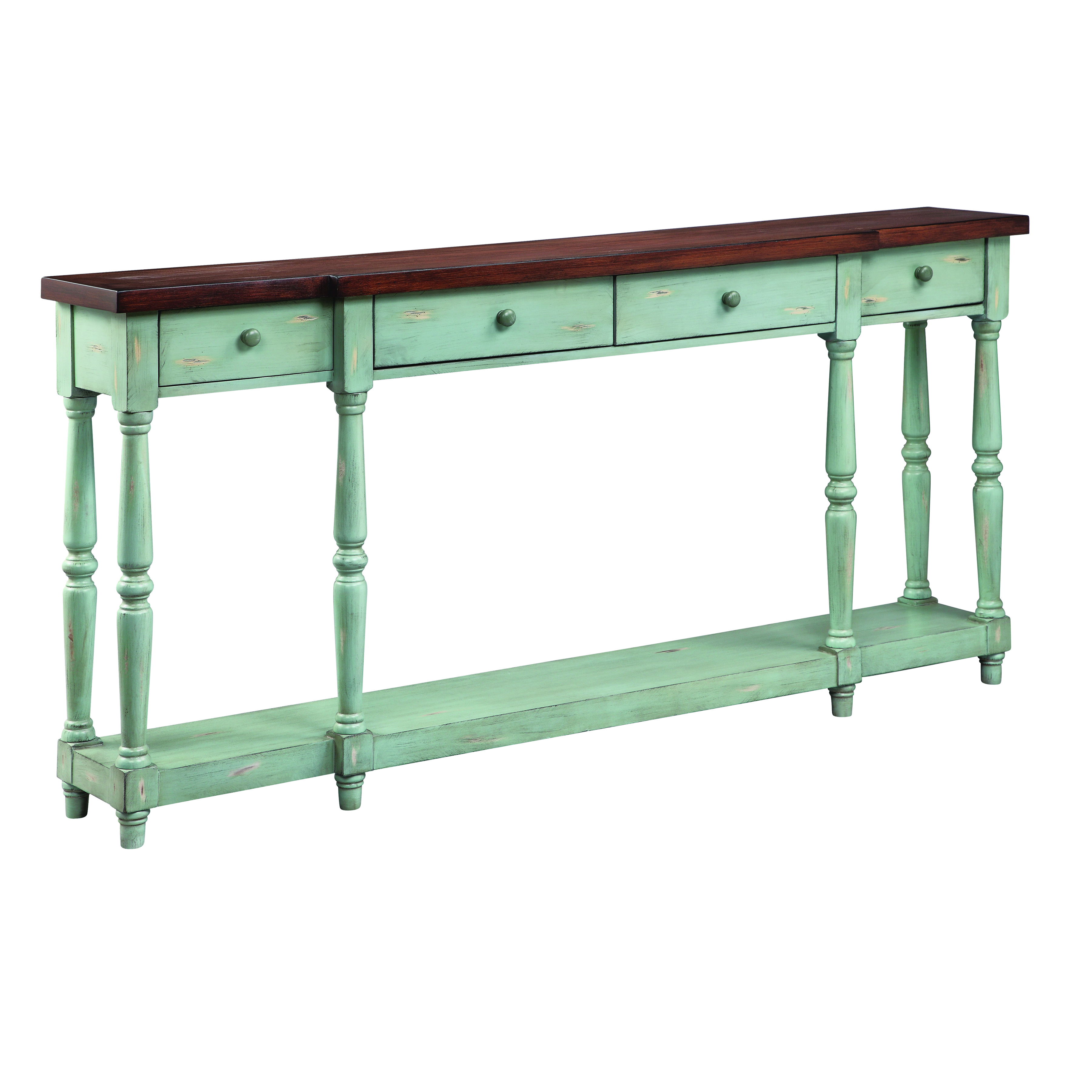 Stein World Simpson 4-Drawer Console Blue