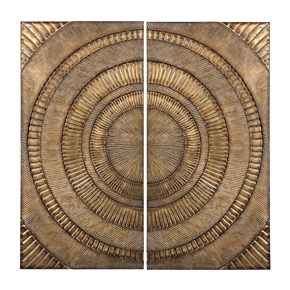 Set of 2 Abstract Metal Wall Panels | Elk Home