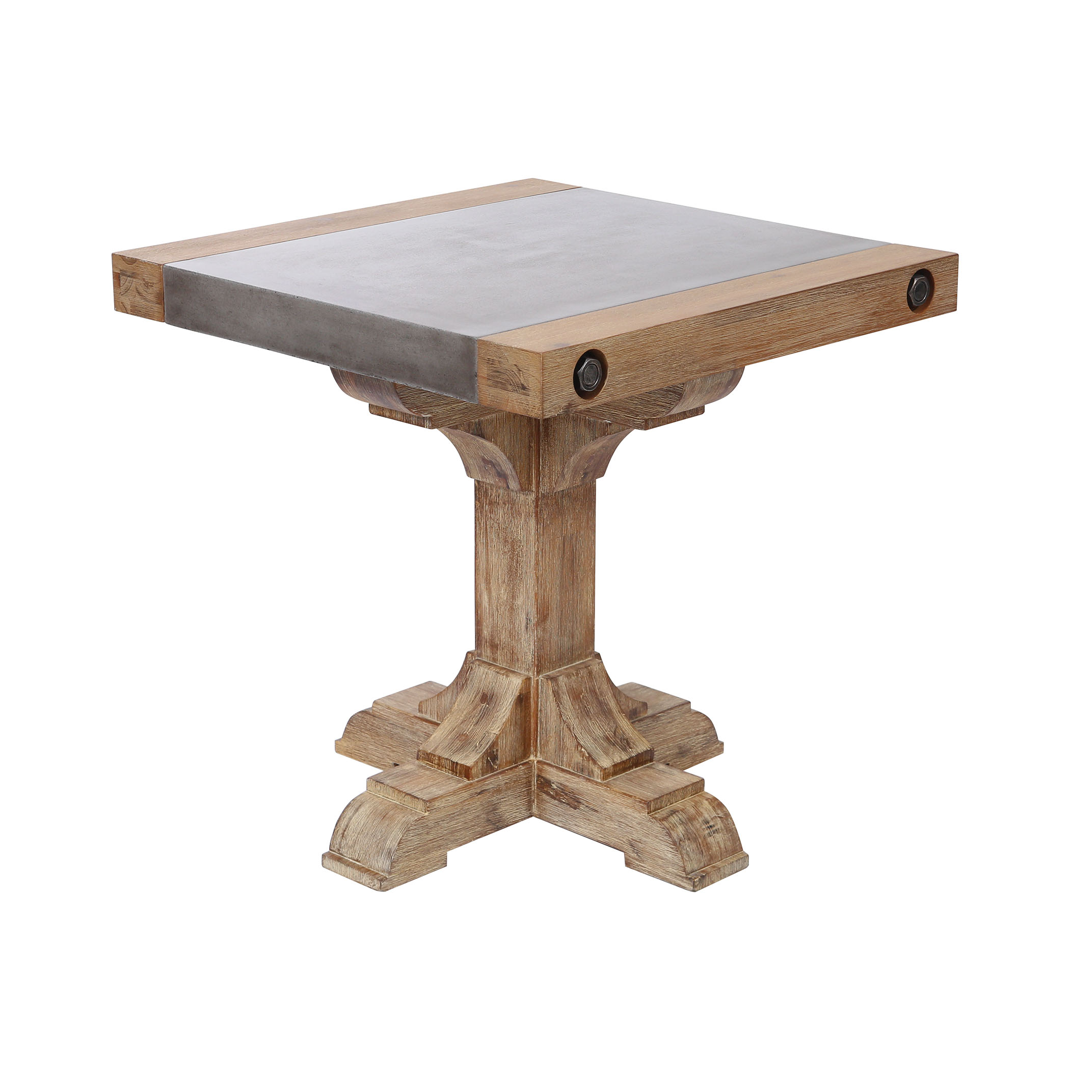 Pirate Accent Table in Concrete and Wood with Waxed Atlantic Finish | Elk Home