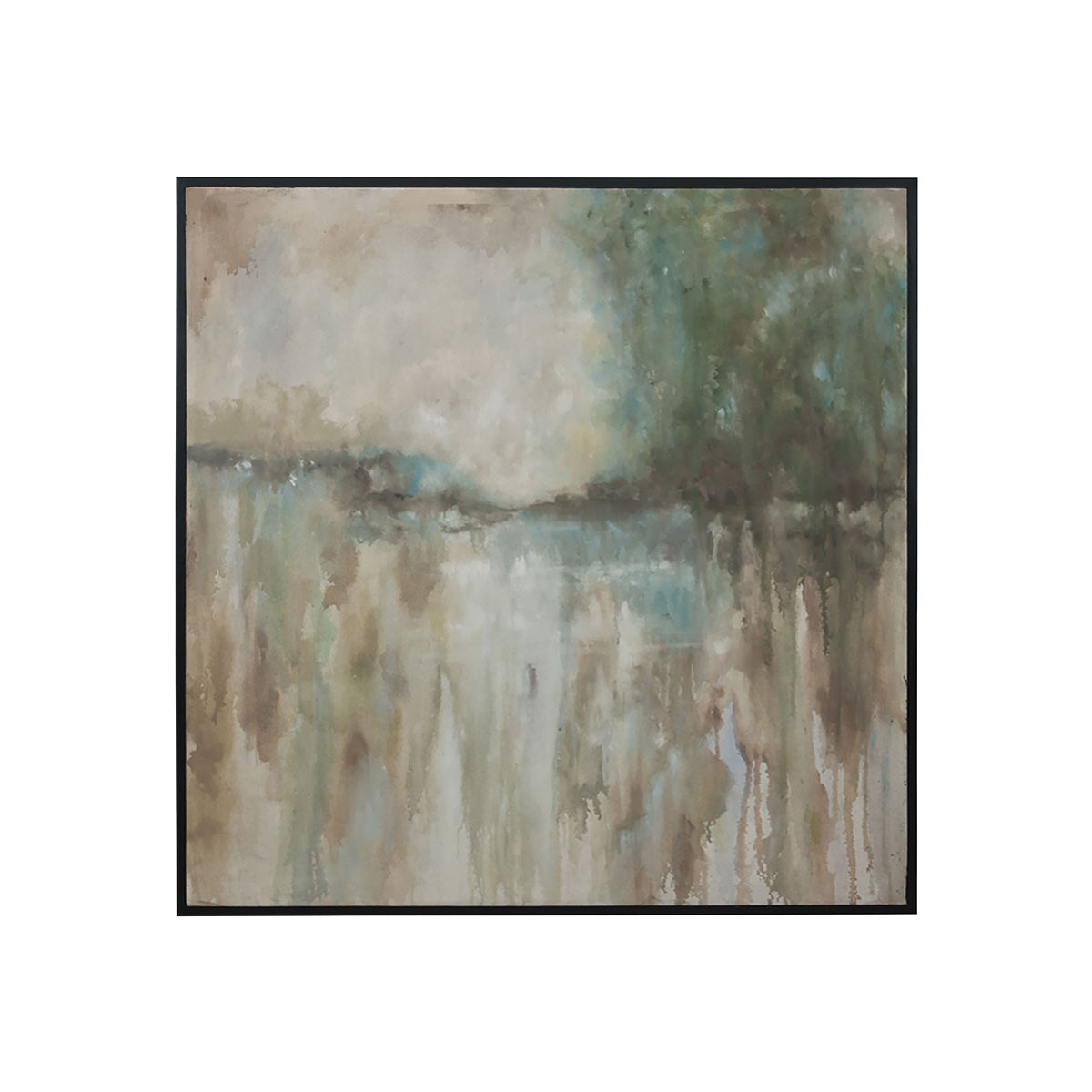 Abstract Landscape Hand-Painted Art On Canvas | Elk Home