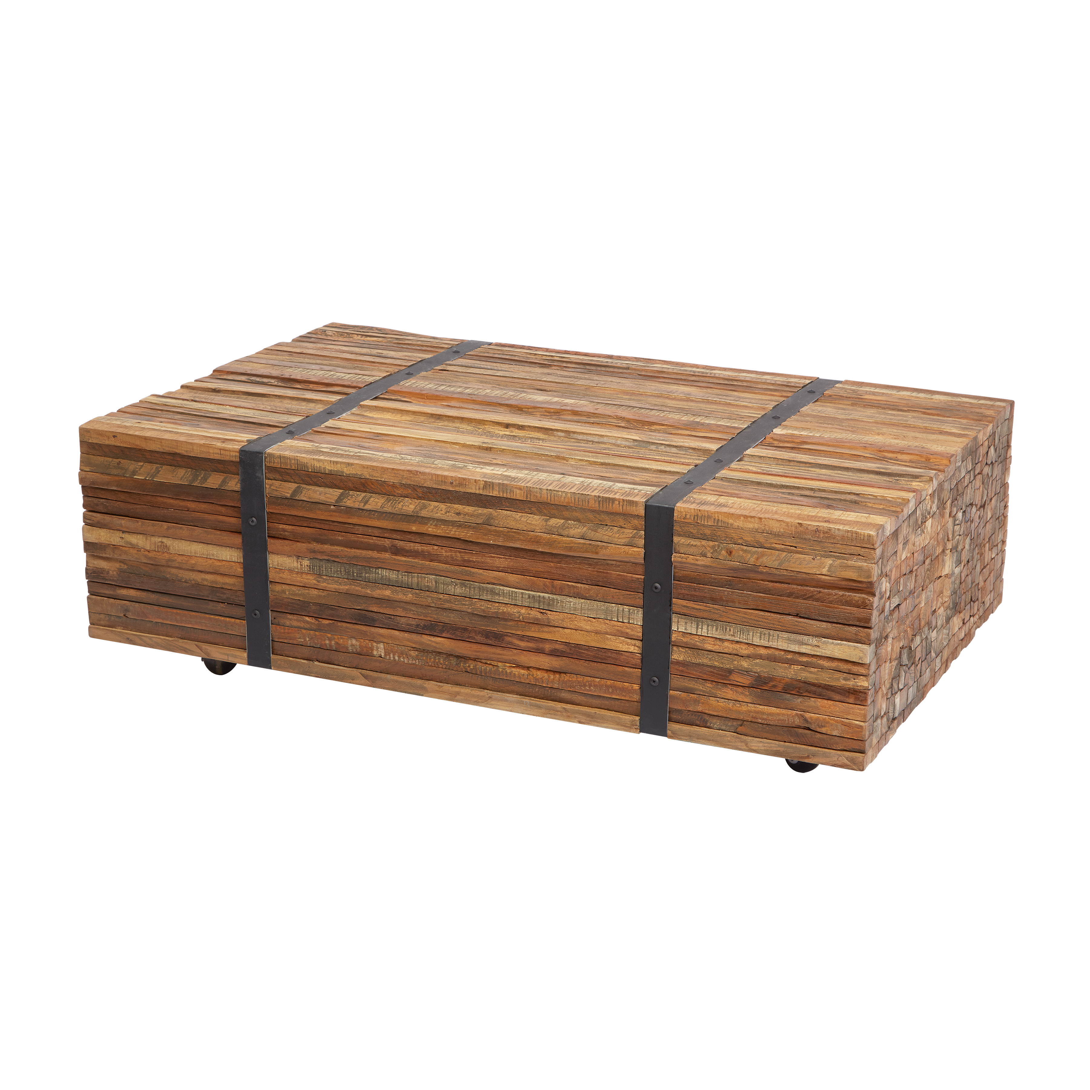Teak Strapped Coffee Table | Elk Home