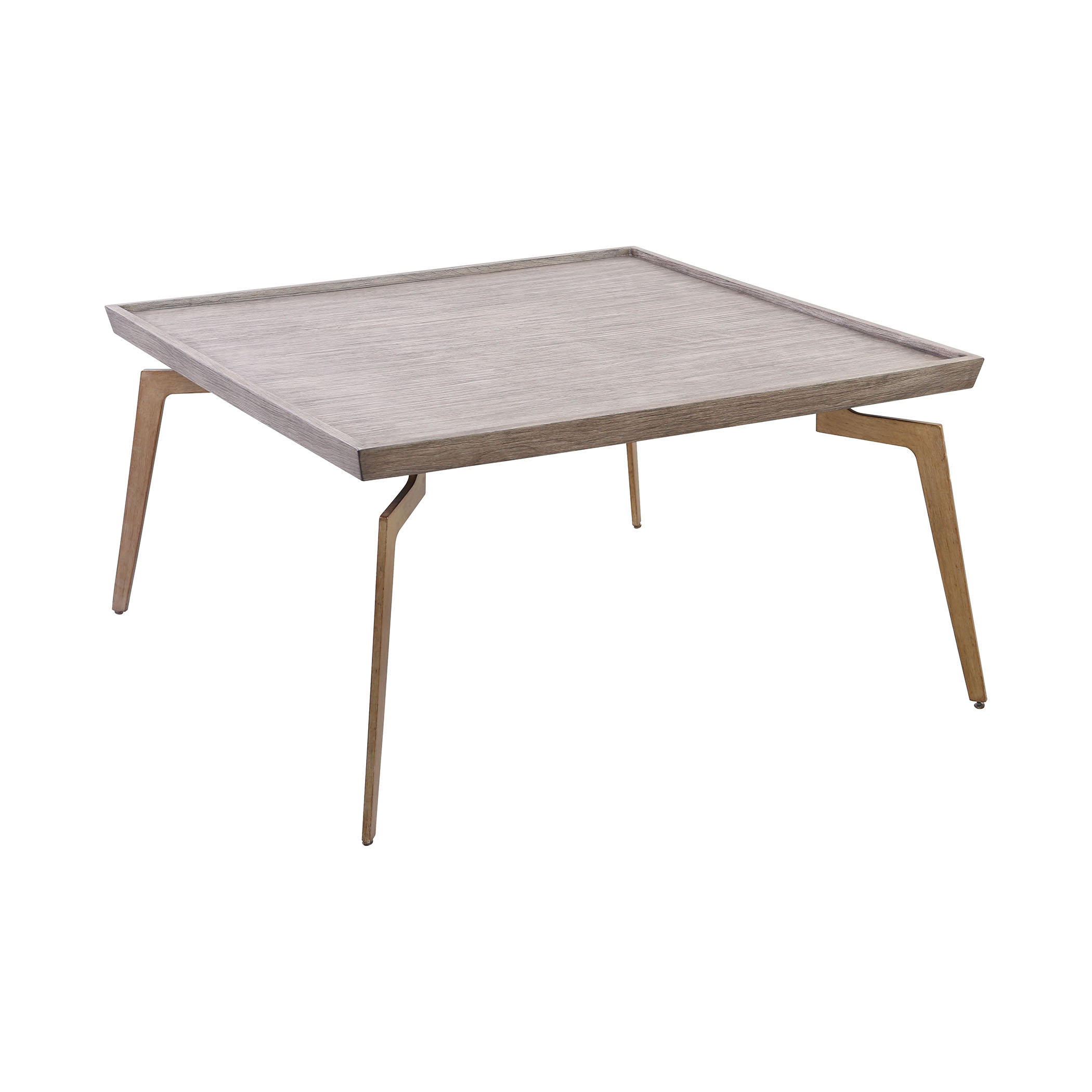 Larocca Coffee Table in Soft Gold and Grey Birch Veneer | Elk Home