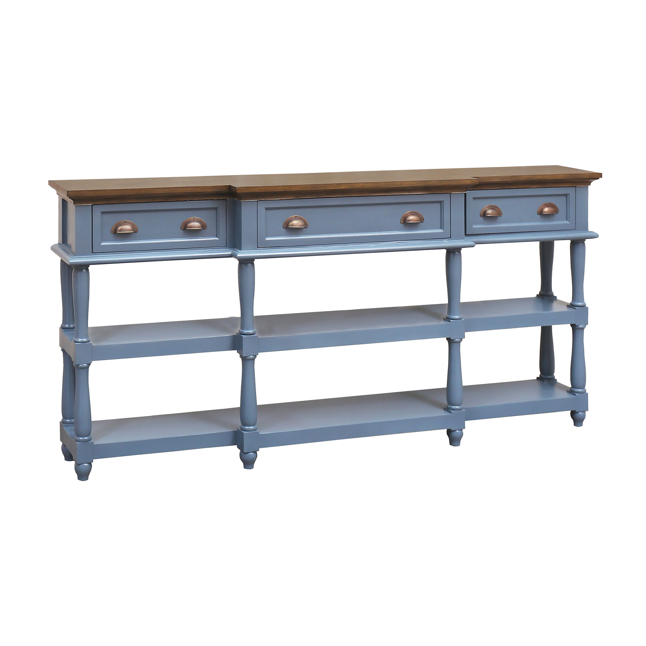 Stein World Simpson 4-Drawer Console Table Blue