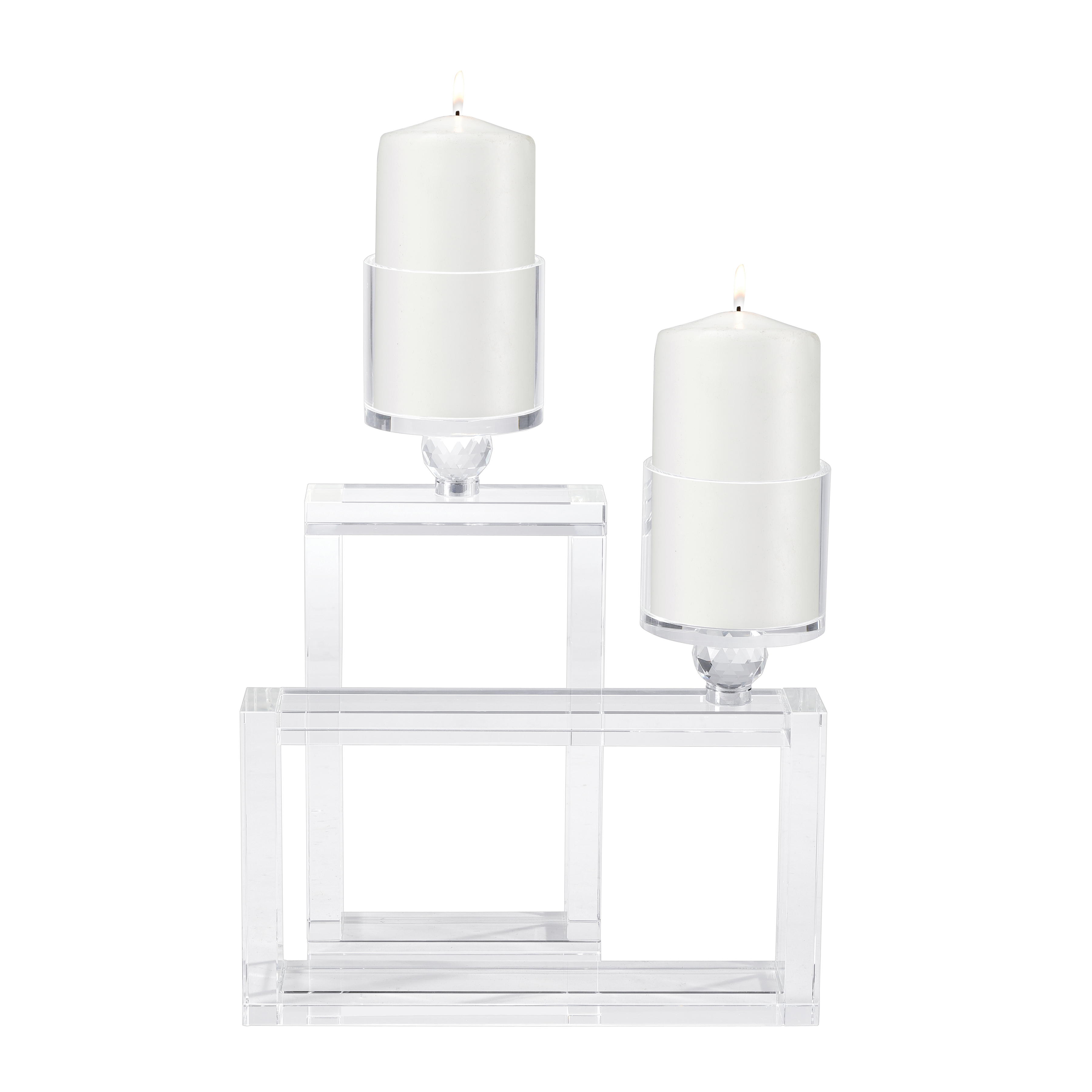Cubic Candle Holder in Clear | Elk Home