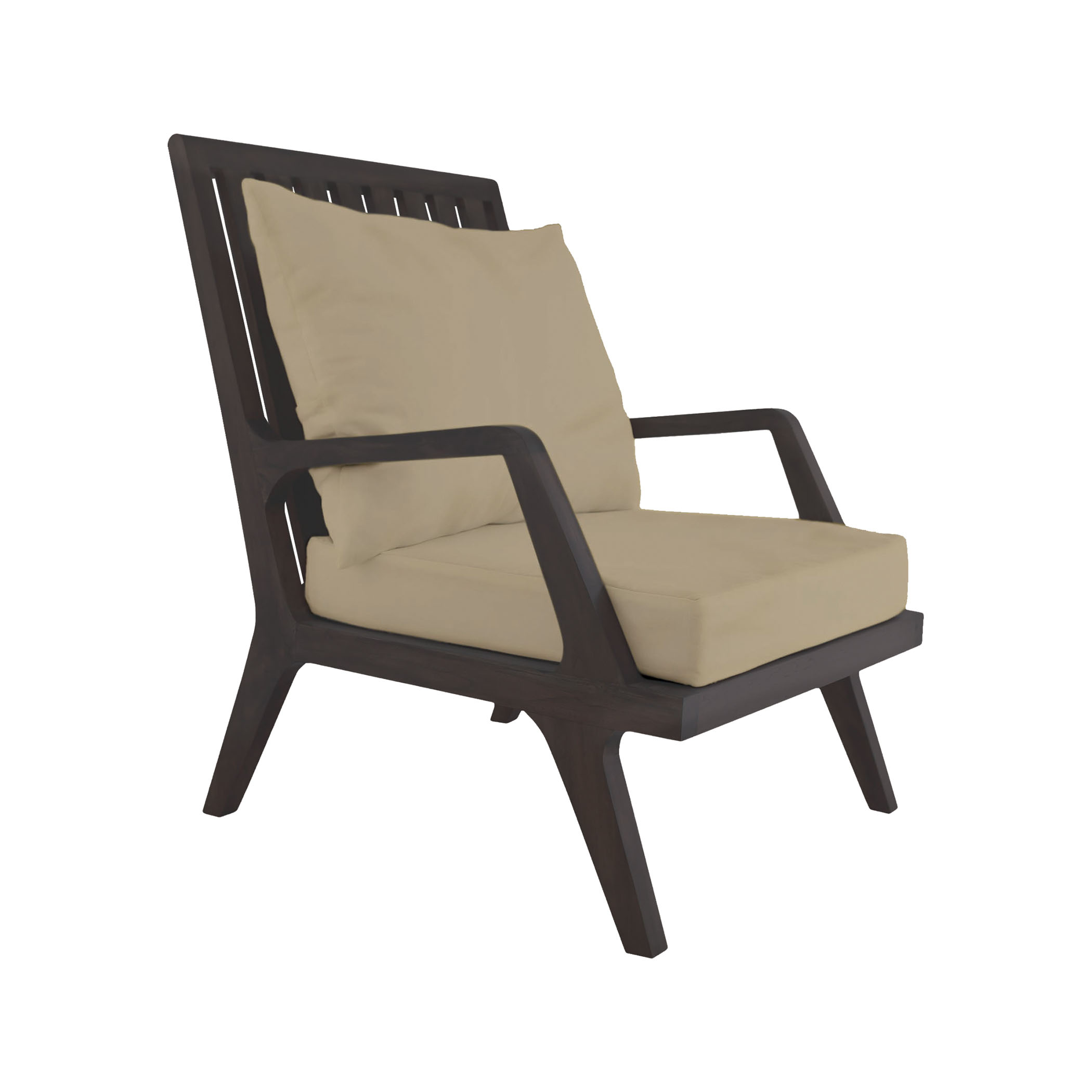 Teak Patio Lounge Chair Cushions in Cream (2-Piece Set) | Elk Home