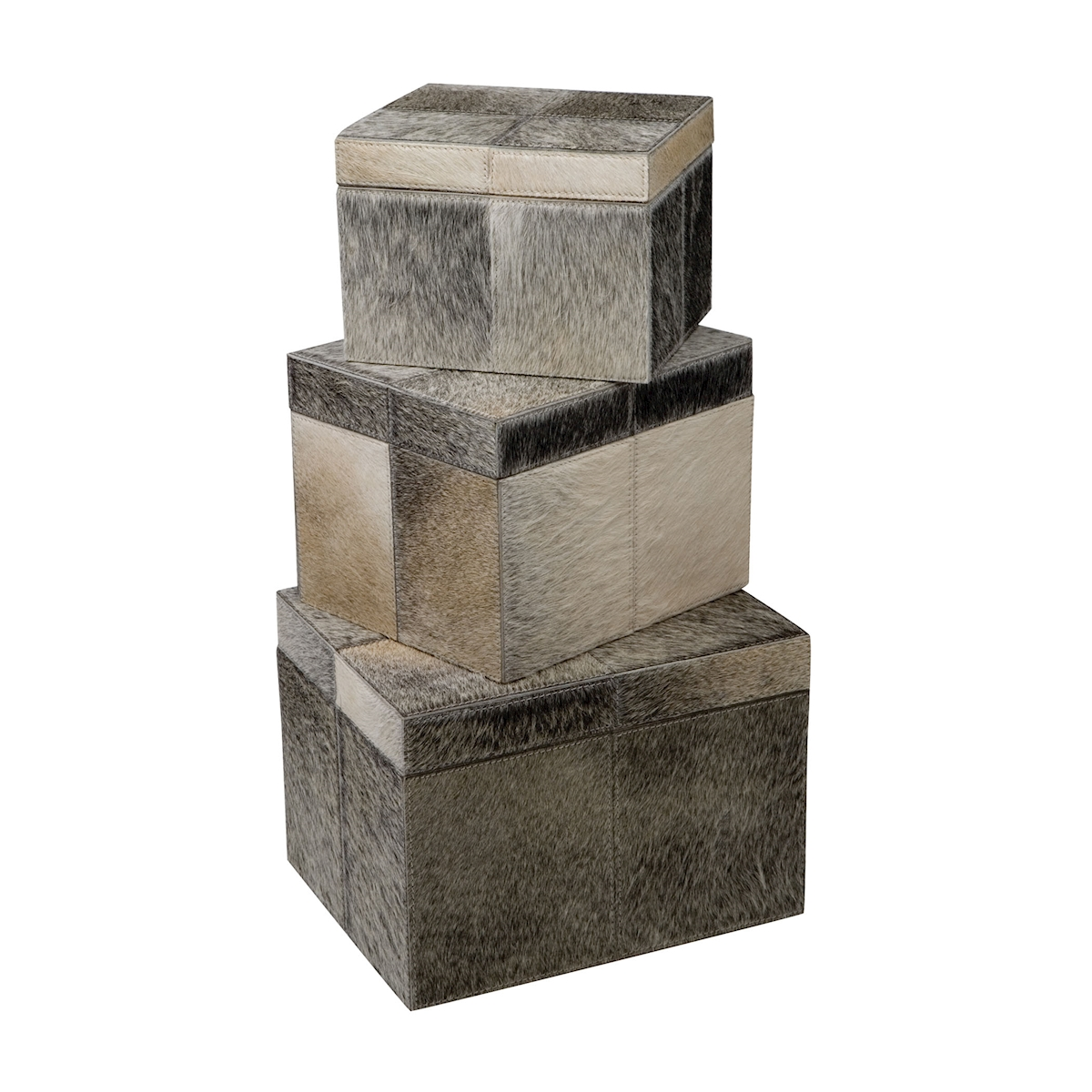 S/3 Nested Faux Pony Boxes | Elk Home
