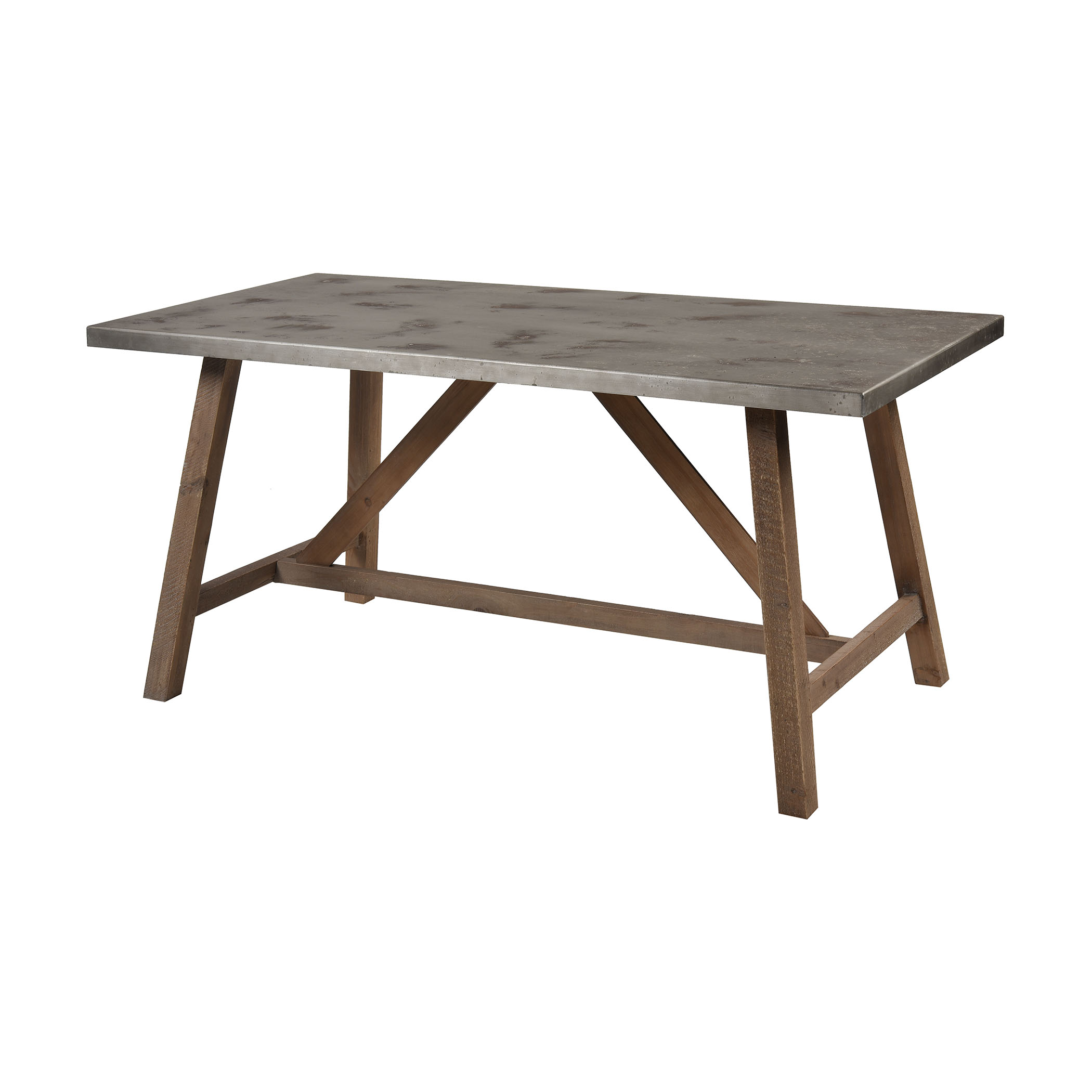 Perot Dining Table in Natural Wood and Concrete | Elk Home