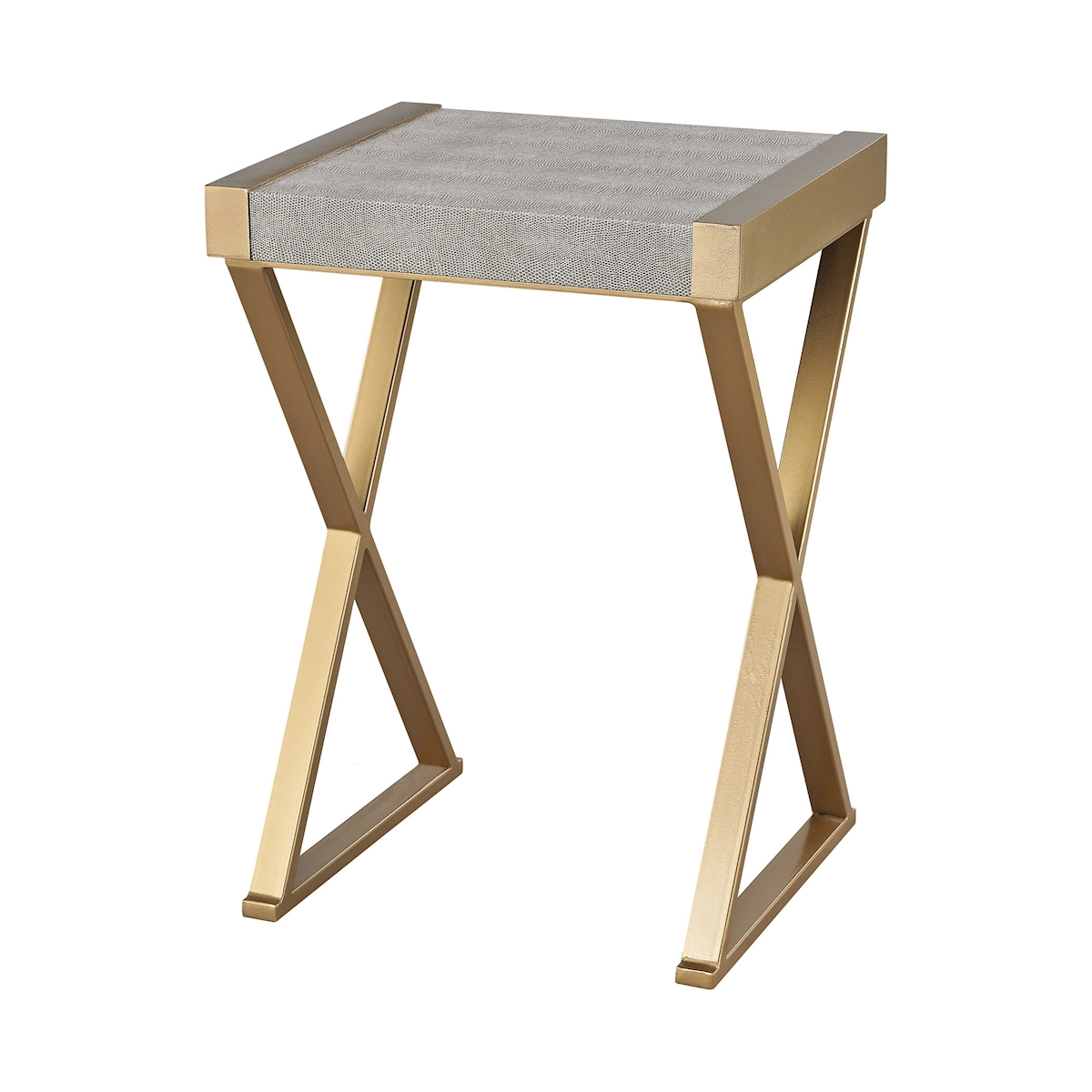 Sands Point Accent Table in Grey and Gold | Elk Home