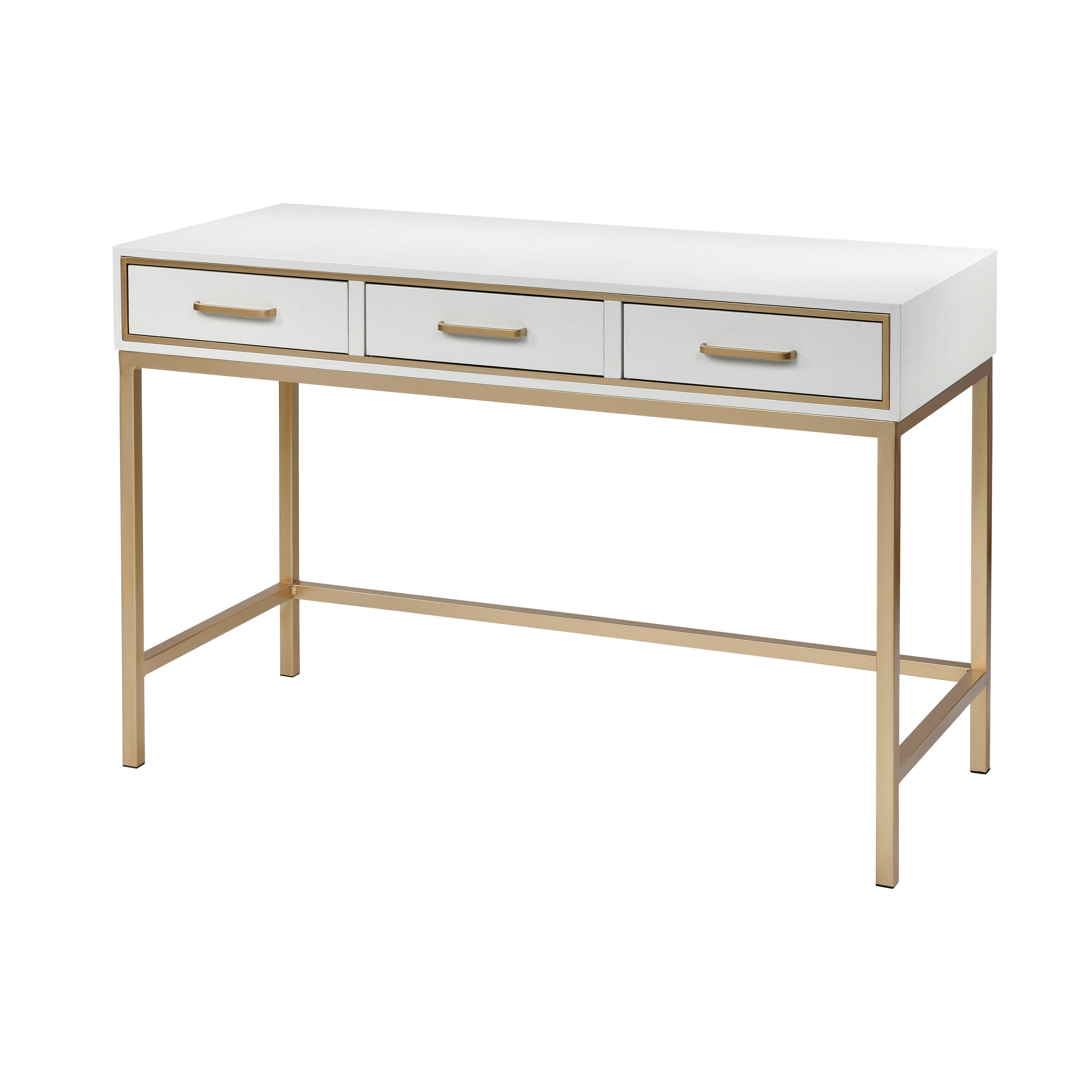Sands Point 3-Drawer Desk in Off-White and Gold | Elk Home
