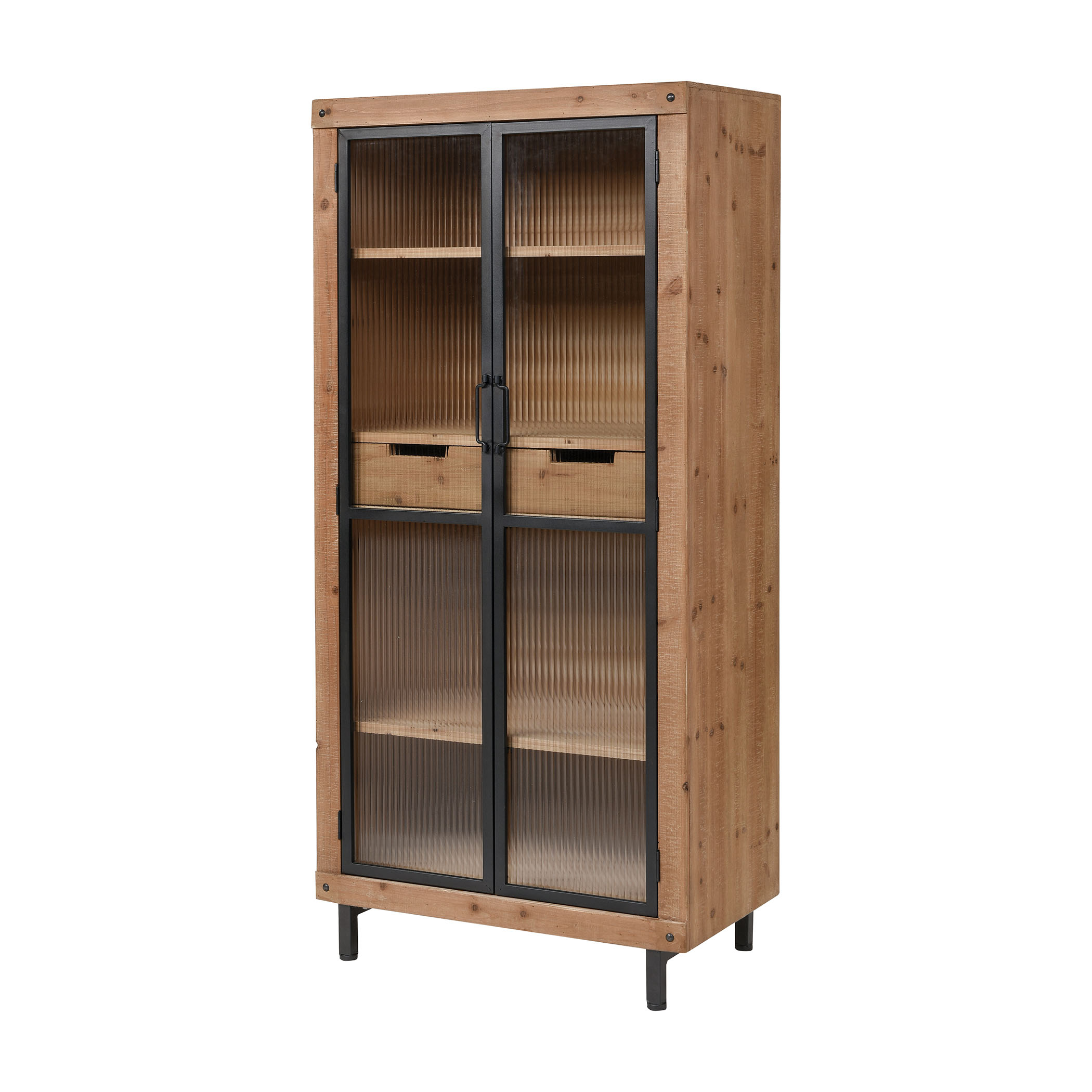 Institution Shelves in Natural Wood Tone and Black | Elk Home