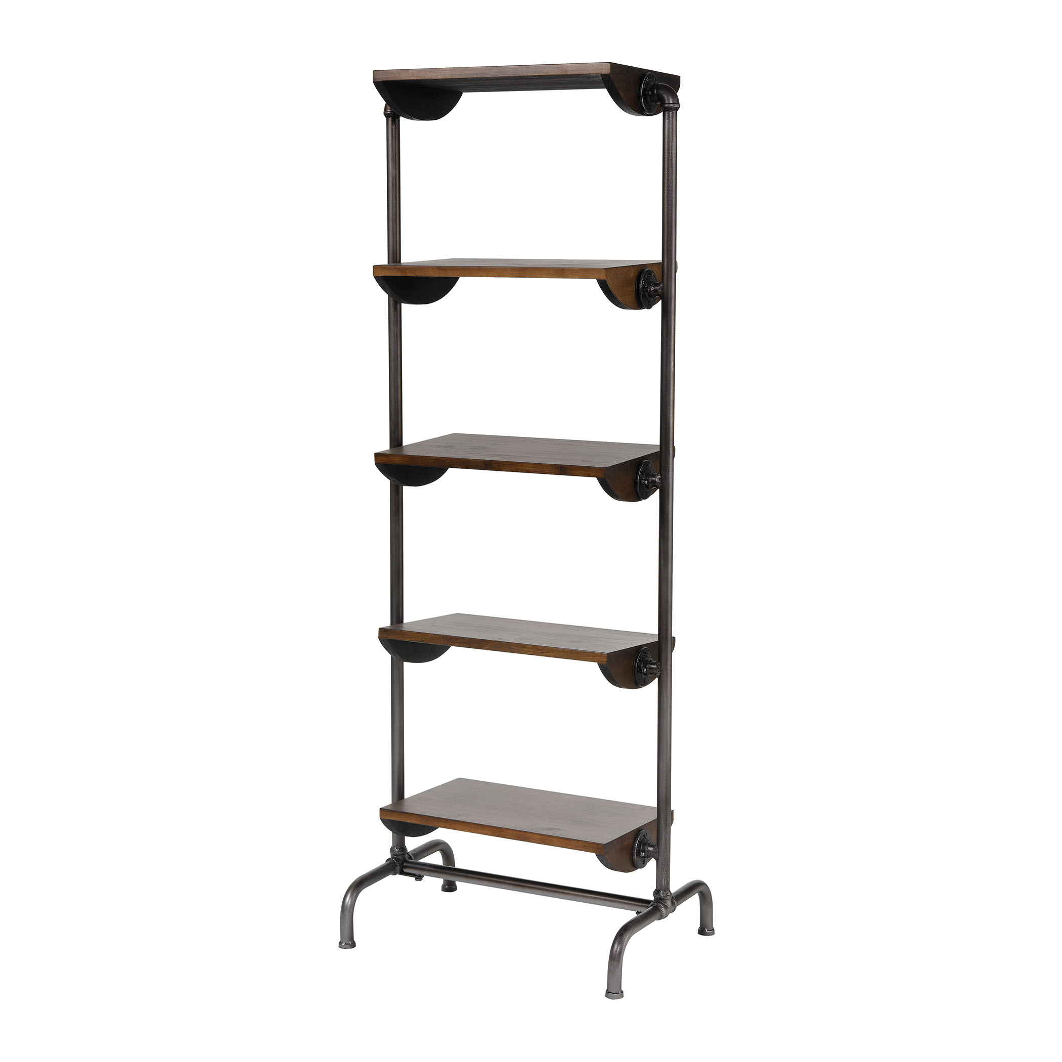 Industry City Bookcase in Black and Natural Wood Tone | Elk Home
