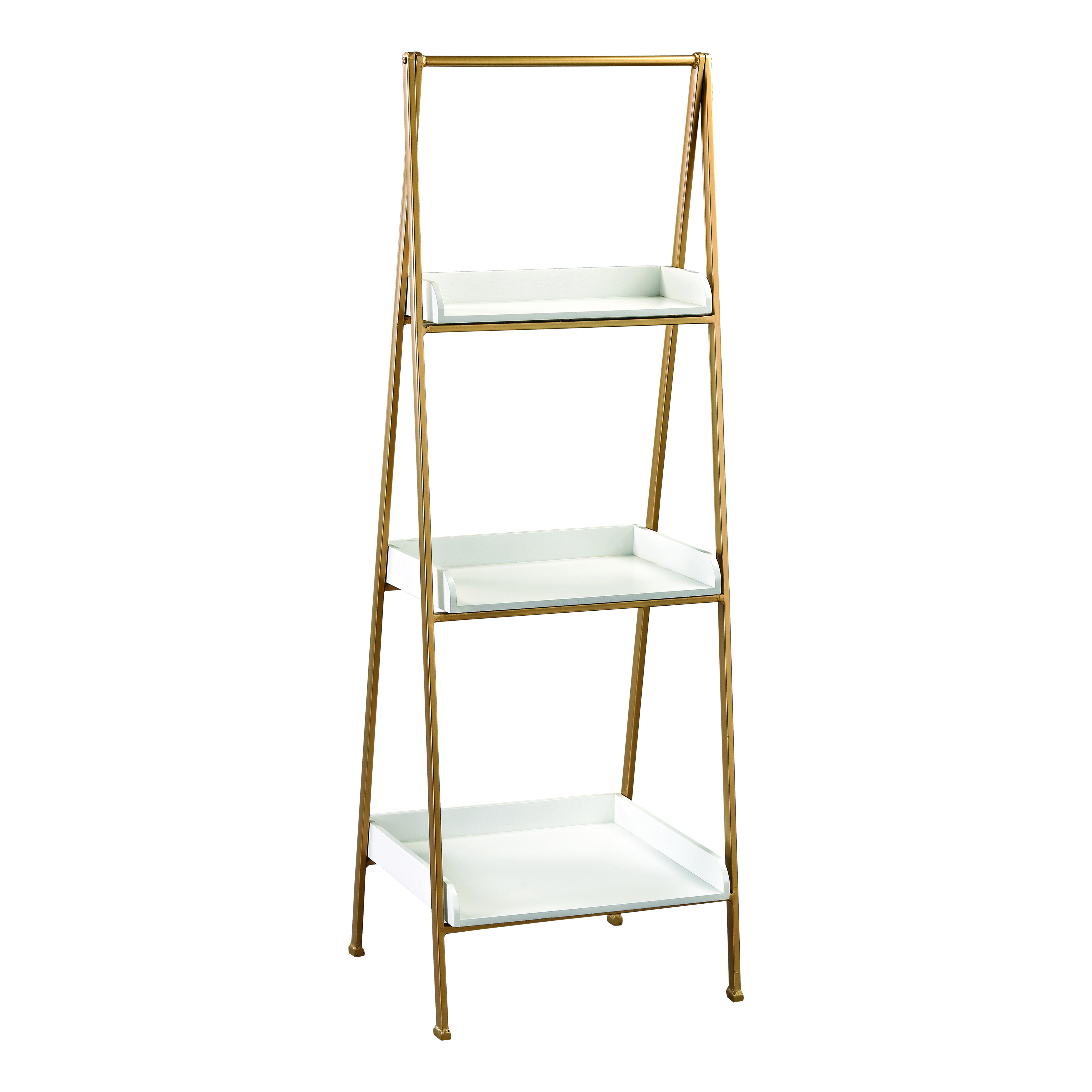 Kline Accent Shelf in White and Gold | Elk Home