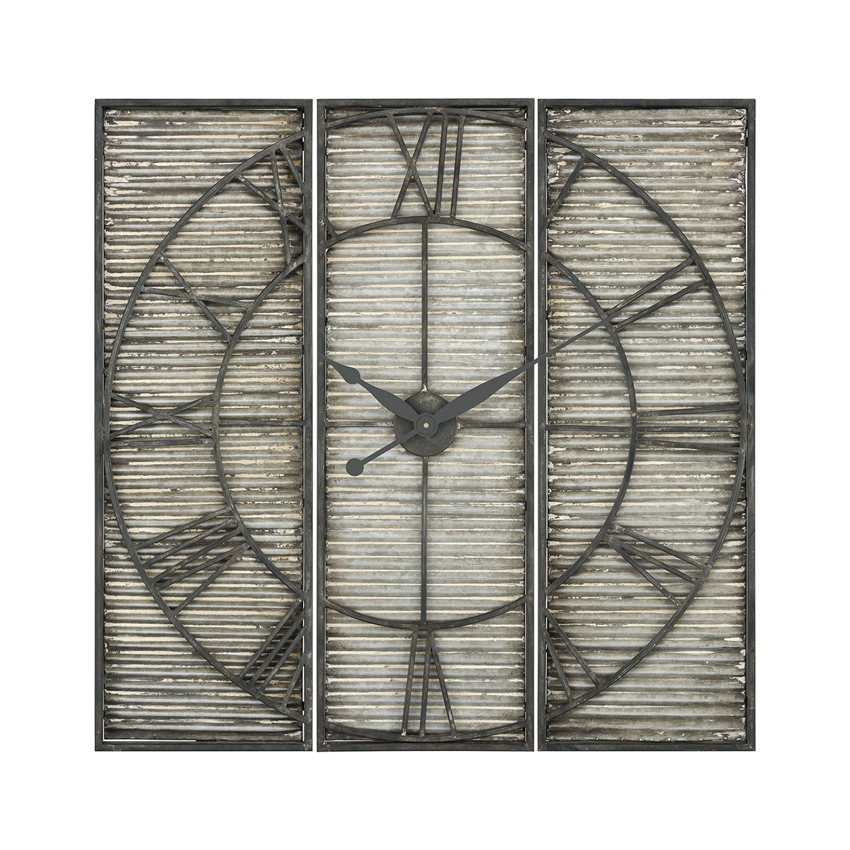 Tammany Square Triptych Wall Clock | Elk Home