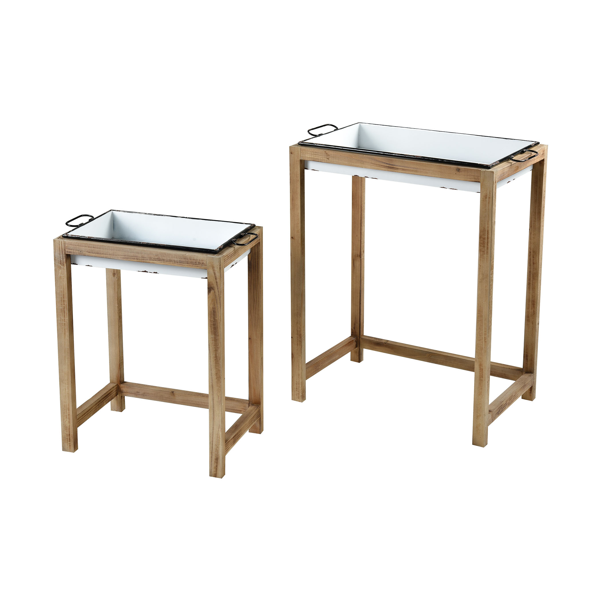 Oyster Creek Accent Tables Set of 2 | Elk Home