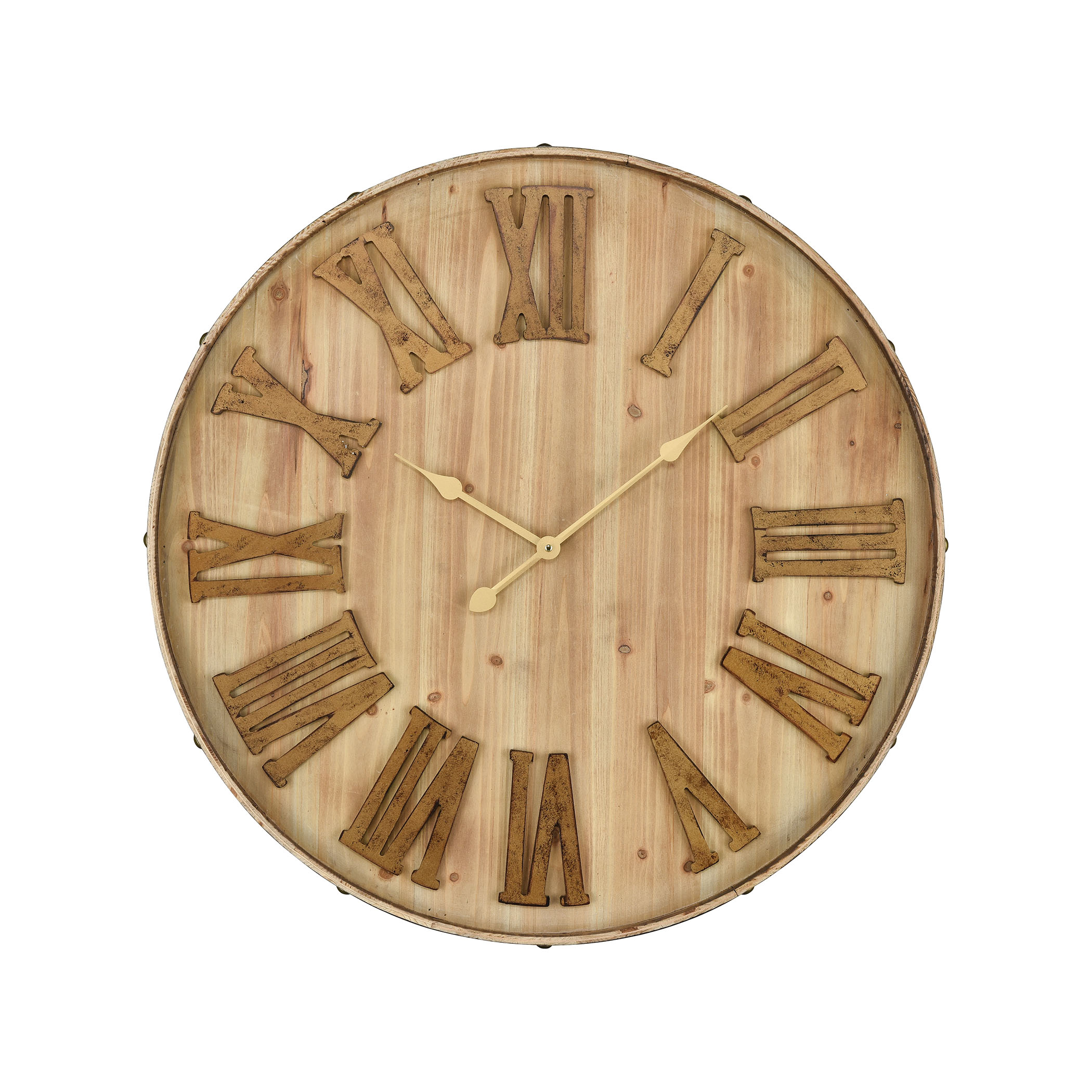 Mula Wall Clock in Natural Wood | Elk Home