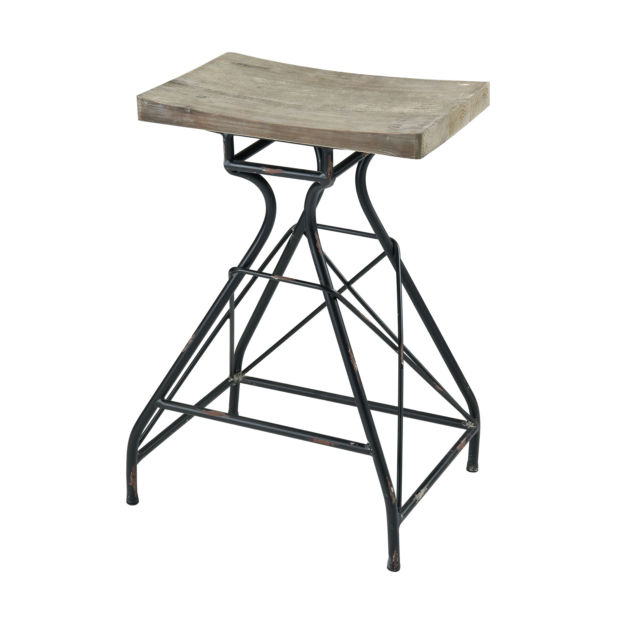 Paloma Bar Stool in Natural Wood and Dark Bronze | Elk Home