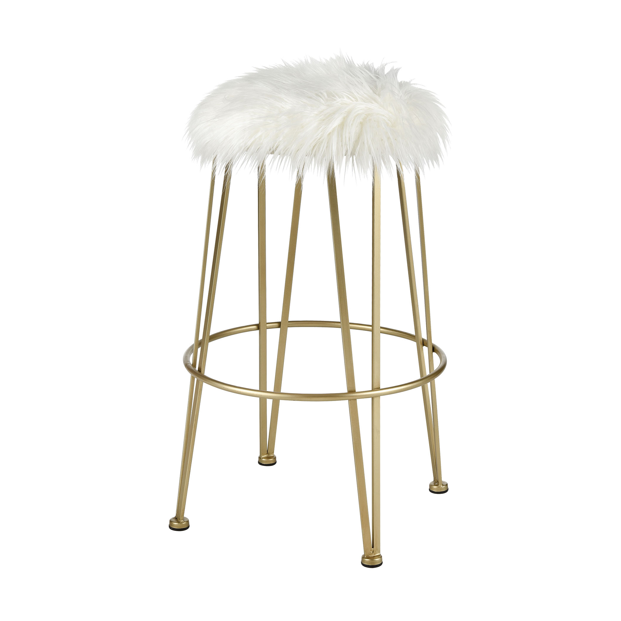 Charmed I'm Sure Bar Stool in Gold and White | Elk Home