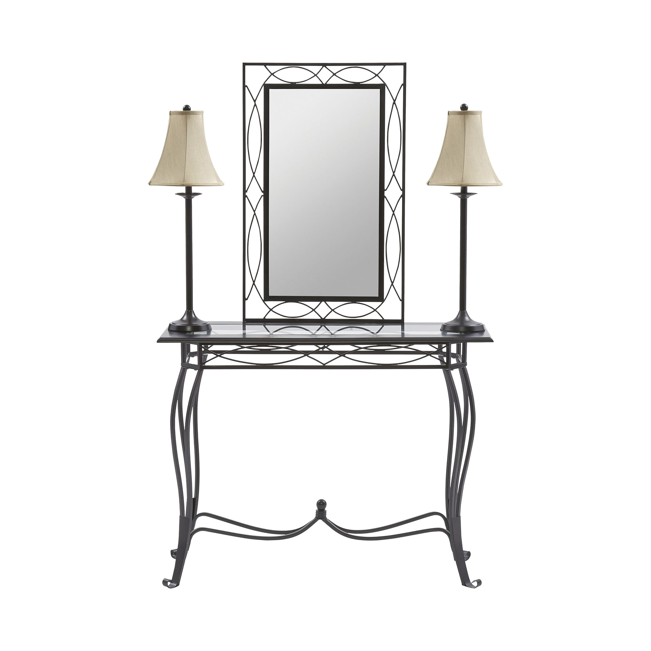 Stein World Esther 4-Piece Set (Table, Mirror, 2 Lamps)