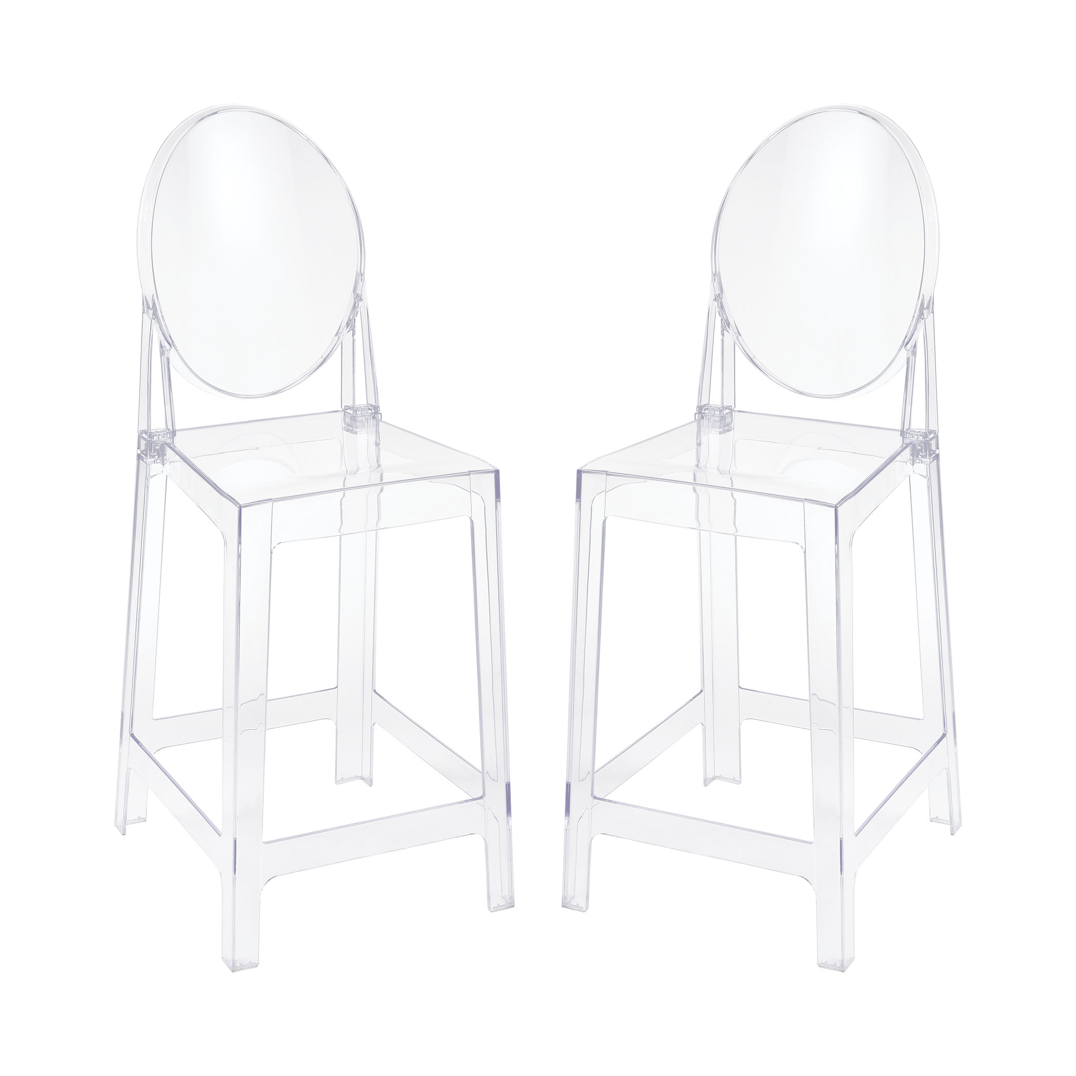 Vanish Clear Acrylic Set of 2 Counter Stools | Elk Home