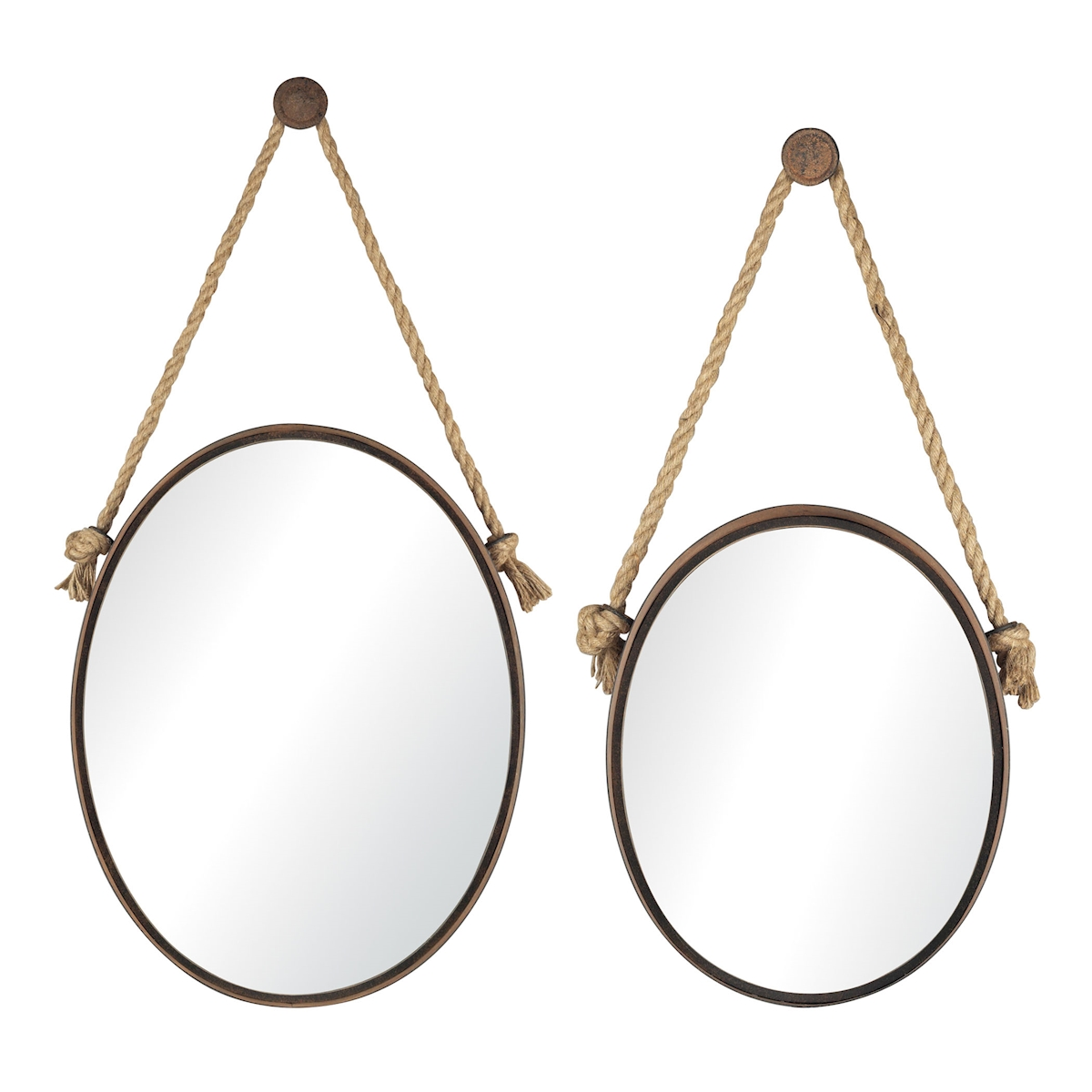 Set of 2 Mirrors On Rope Oval | Elk Home