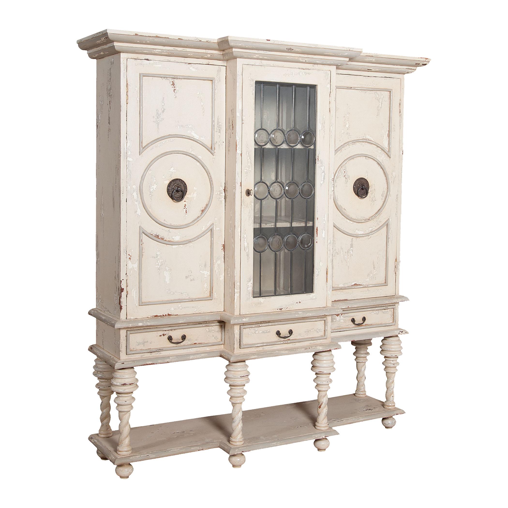 Italian 3-Door 3-Drawer Display Hutch in Crossroads Rosa | Elk Home