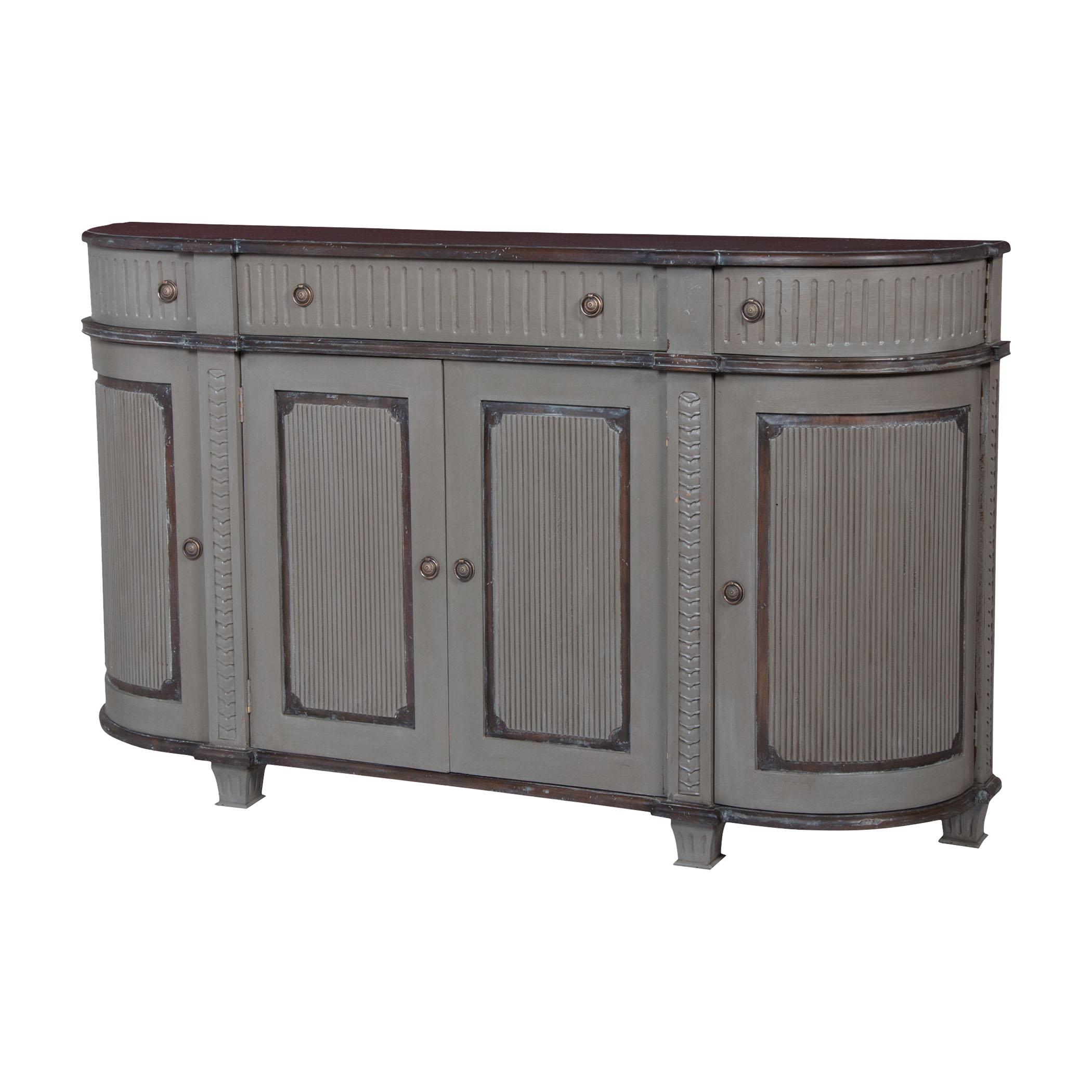 Italian 3-Door 3-Drawer Demilune Chest in Manor Garden Gate | Elk Home
