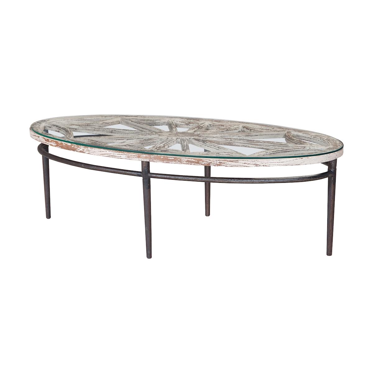 Farmhouse Oval Coffee Table | Elk Home