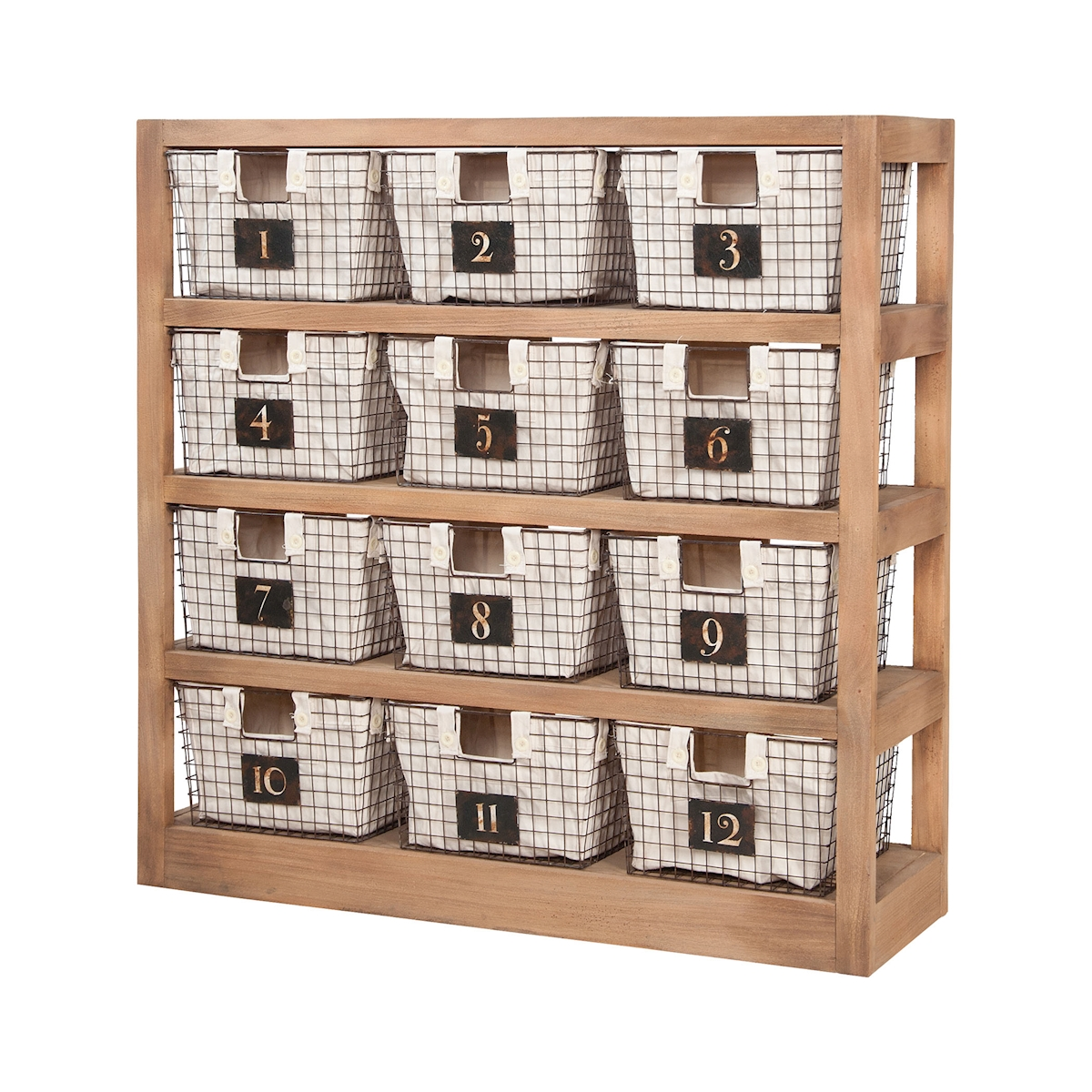 Shelving Unit with 12 Locker Baskets | Elk Home