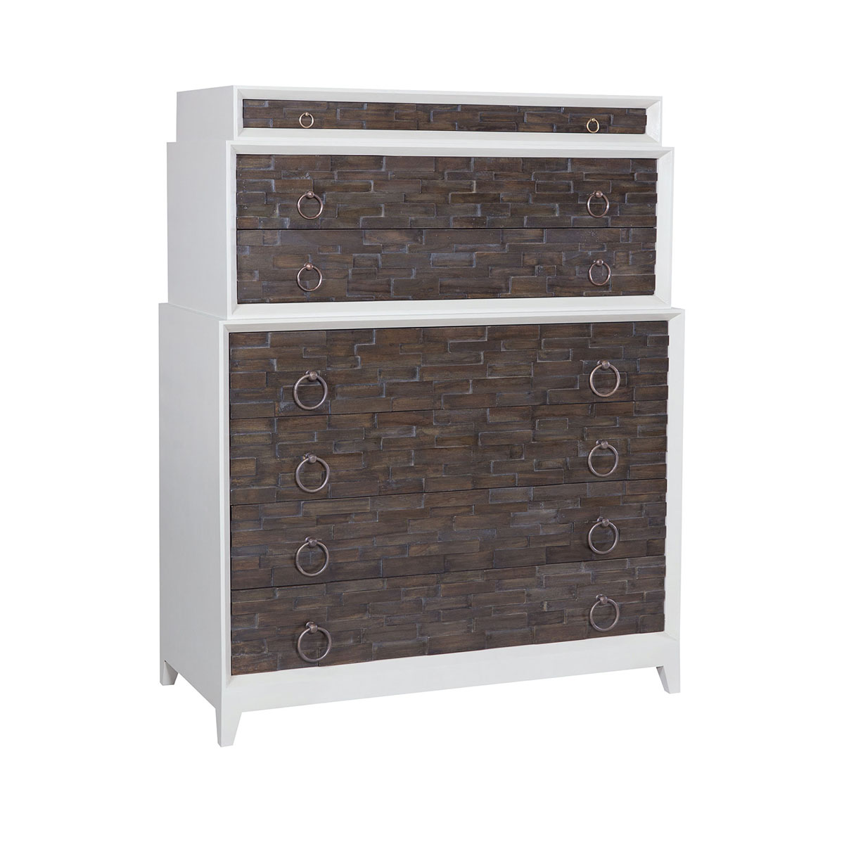 Houston 7-Drawer Dresser with Heritage Grey Dark Stained Drawer Fronts | Elk Home