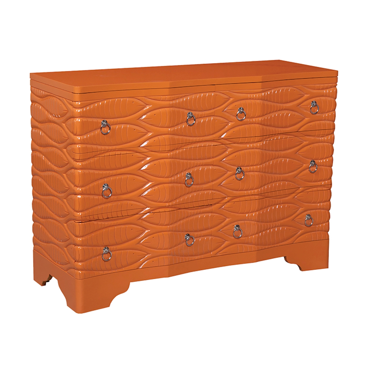 Waterfront Harmony 6-Drawer Chest in Paprika | Elk Home