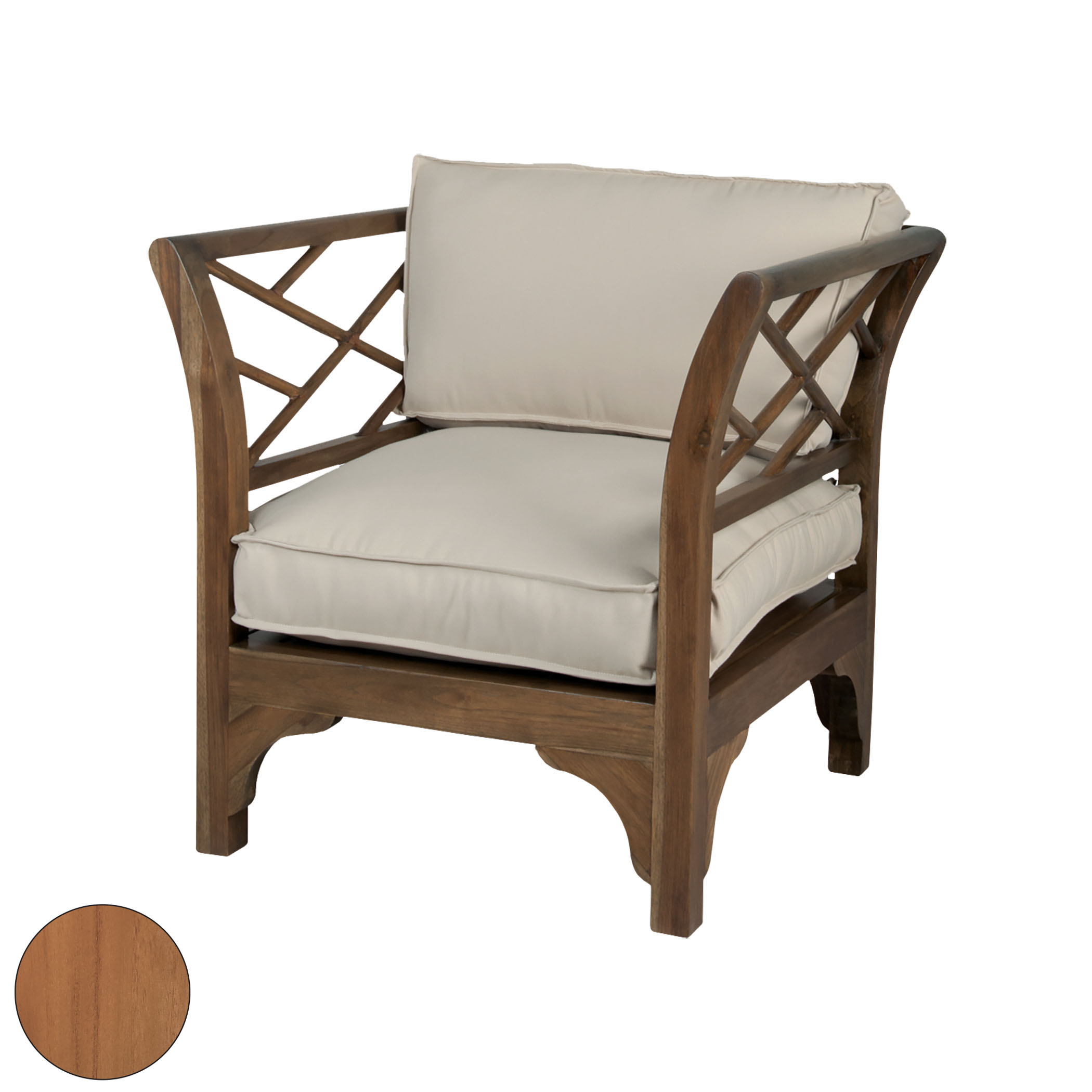 Teak Patio Chair in Euro Teak Oil | Elk Home