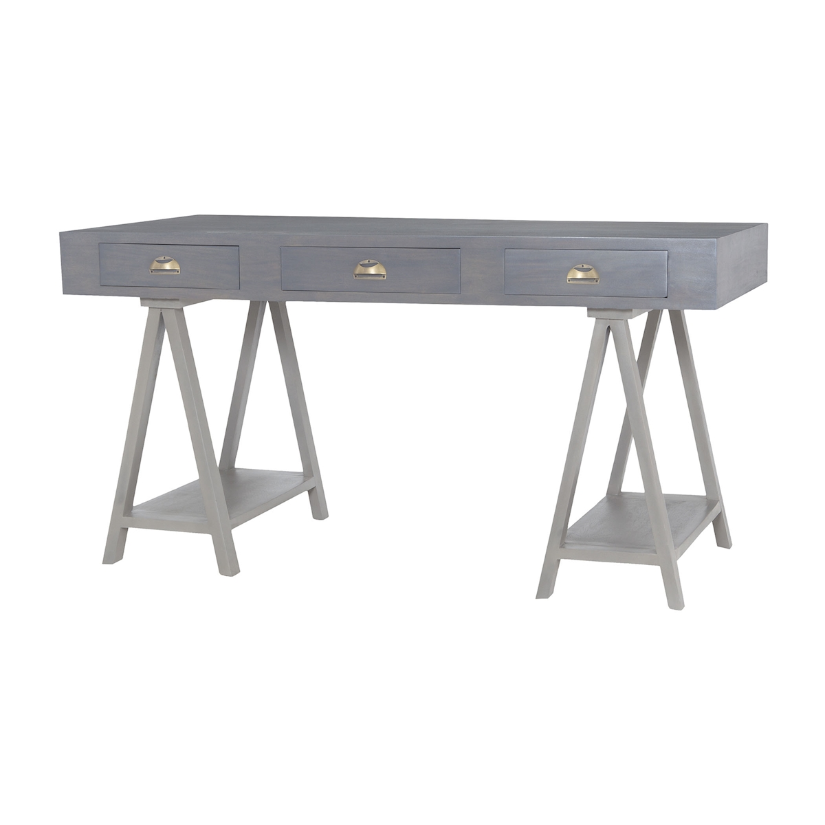 Huffman Desk in Antique Smoke and Grain De Bois Garden Gate | Elk Home