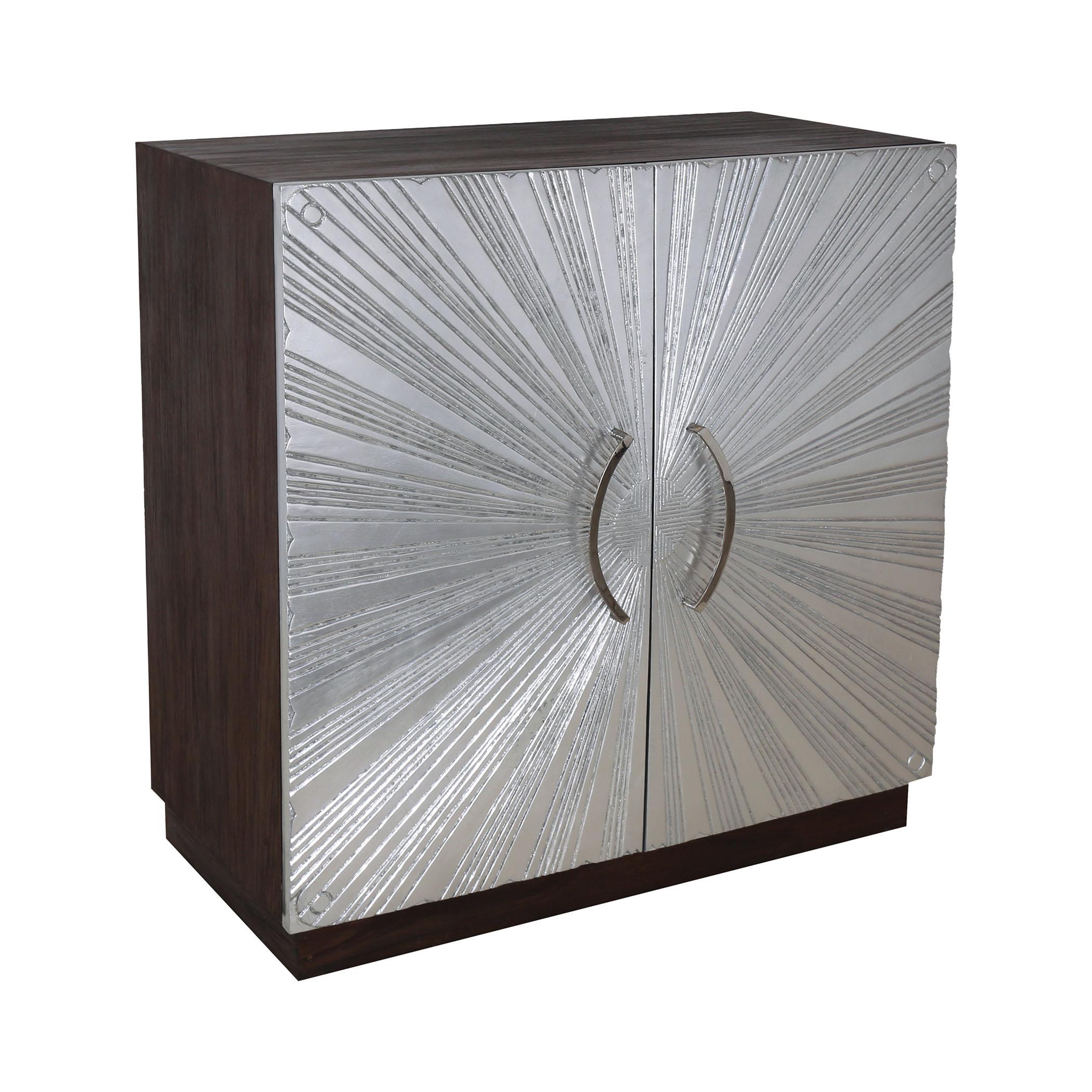 Silver Starburst 2-Door Cabinet | Elk Home