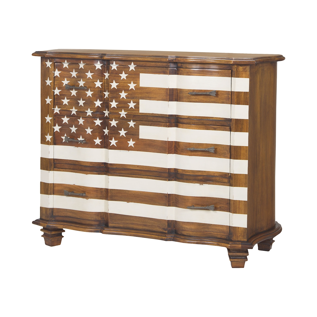 Westward Chest in Honey Stain and White | Elk Home