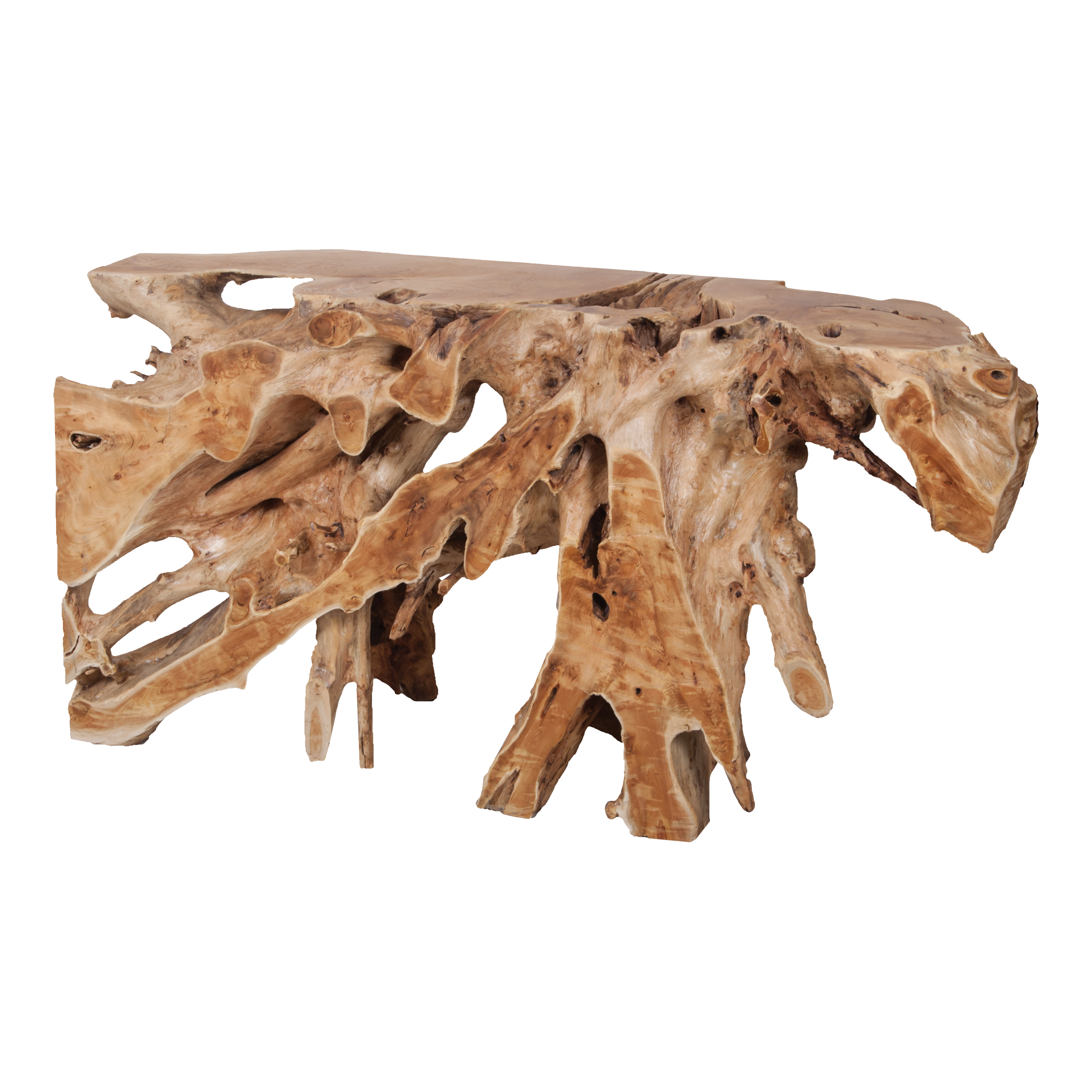 Teak Root Console Table in Natural | Elk Home