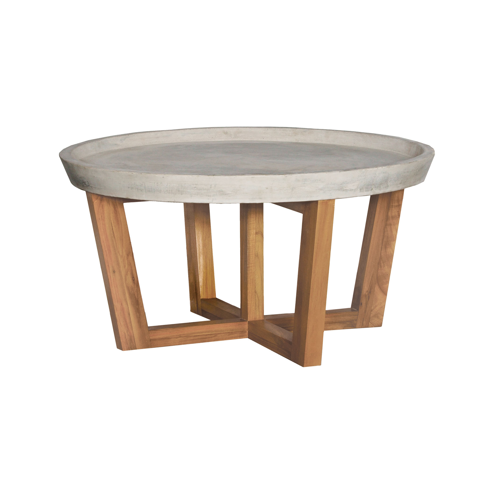 Round Concrete Cocktail Table | Elk Home
