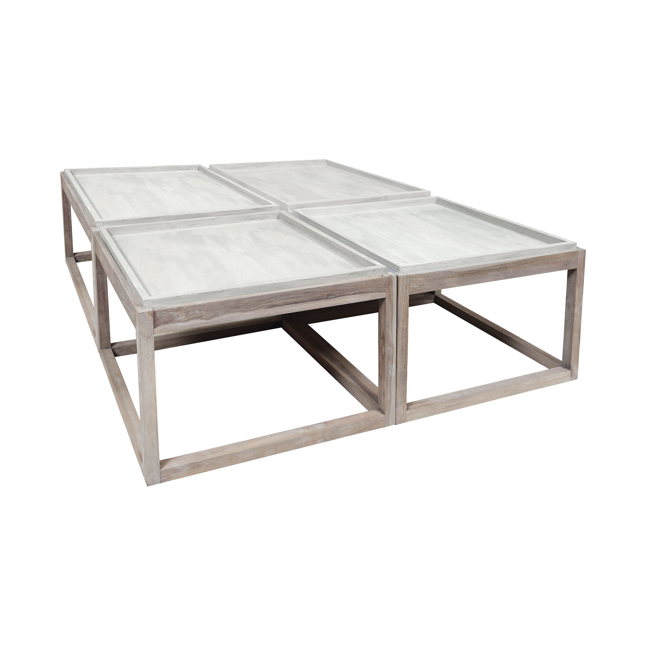 Set of Four Concrete Outdoor Parsons Tables | Elk Home