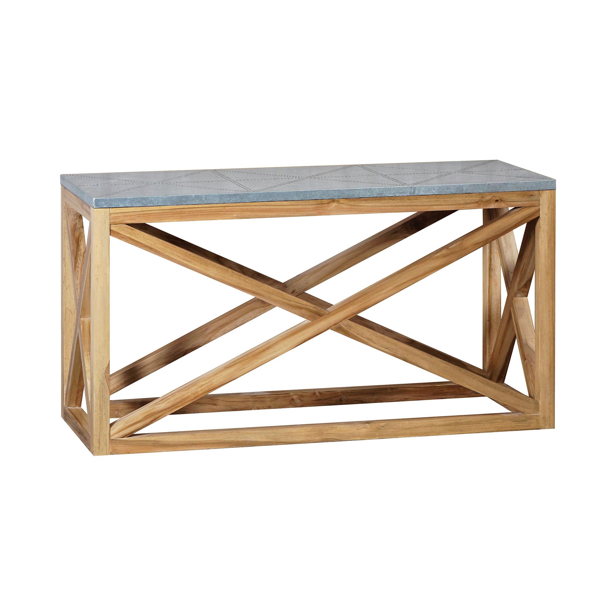 Tin Top Nantucket Console Table | Elk Home