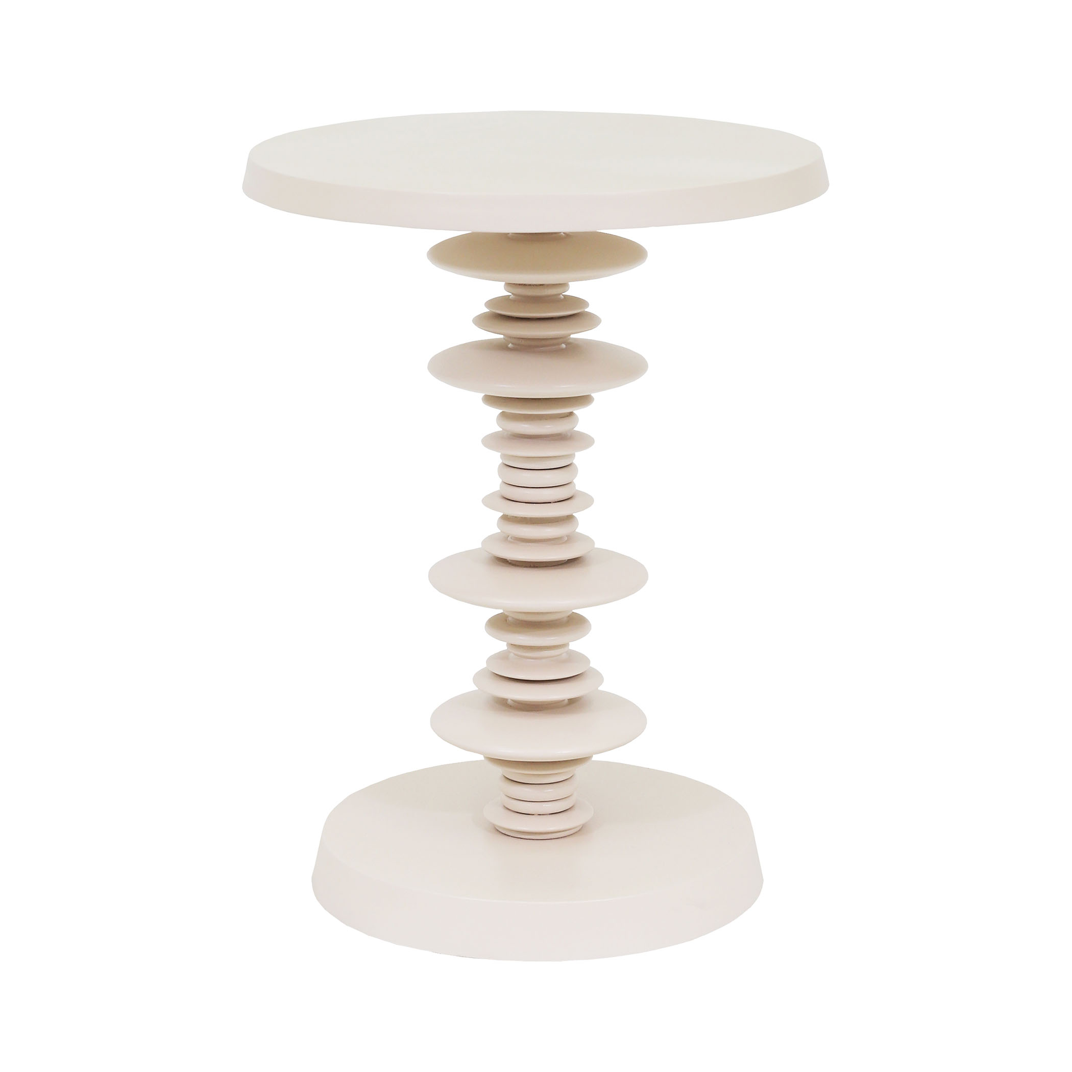 Spun Accent Table in White | Elk Home