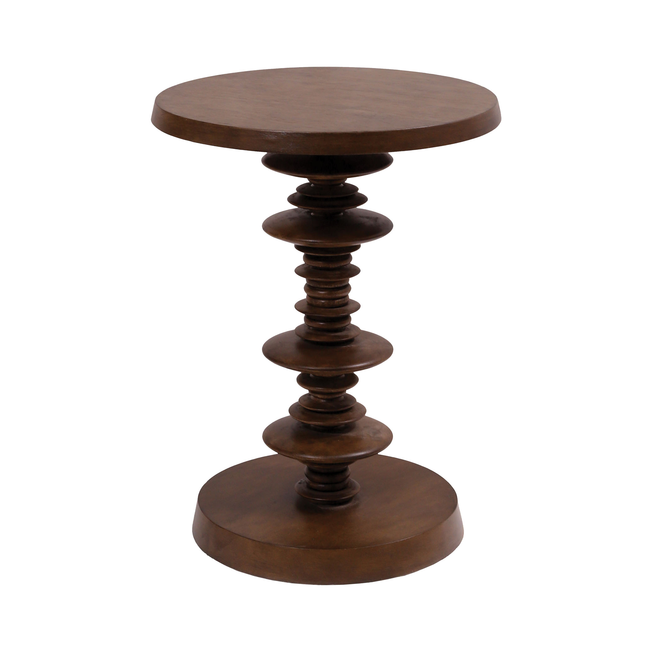 Spun Accent Table in Dark Stain | Elk Home