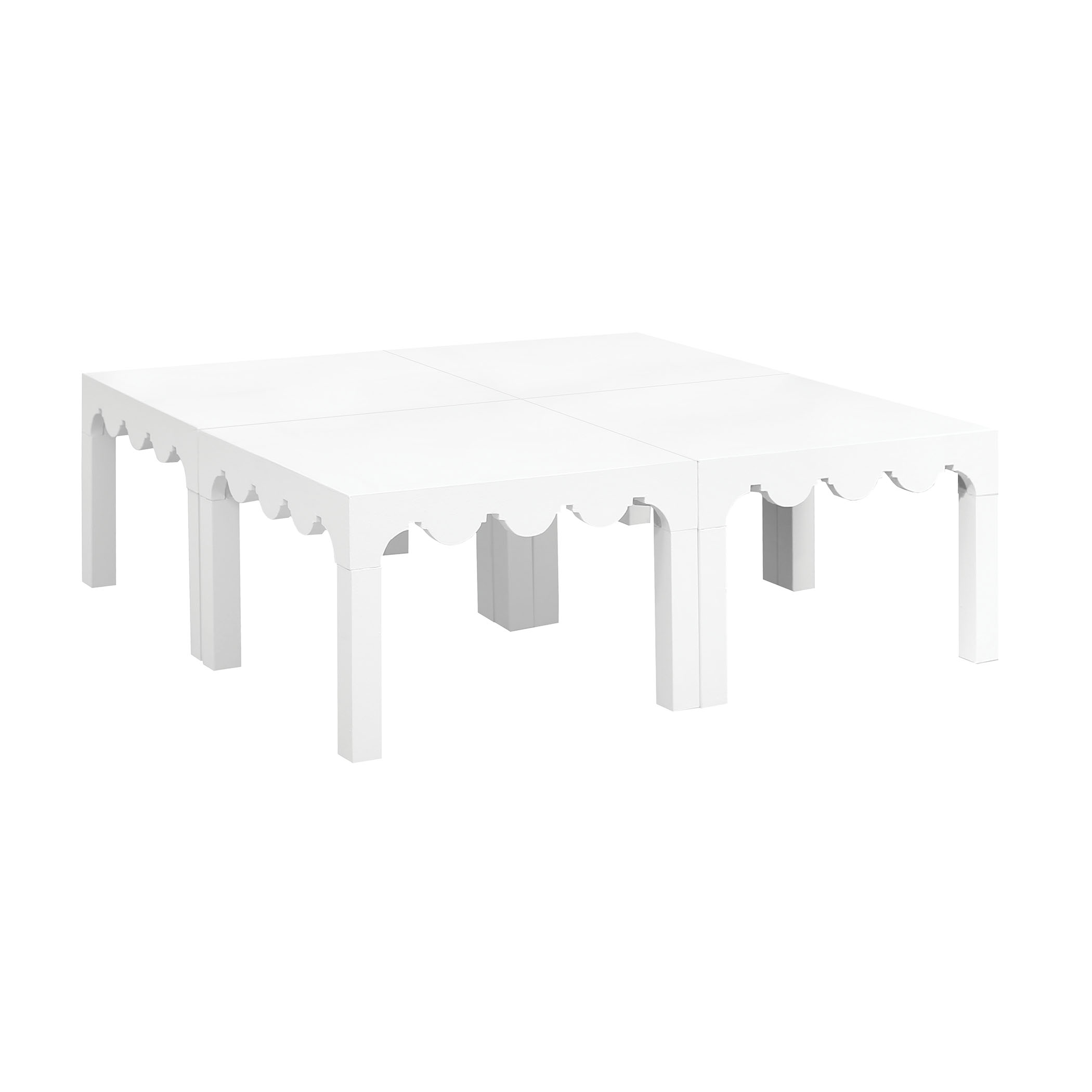 Lifestyle Cocktail Tables Wrapped in White Canvas Set of 4 | Elk Home
