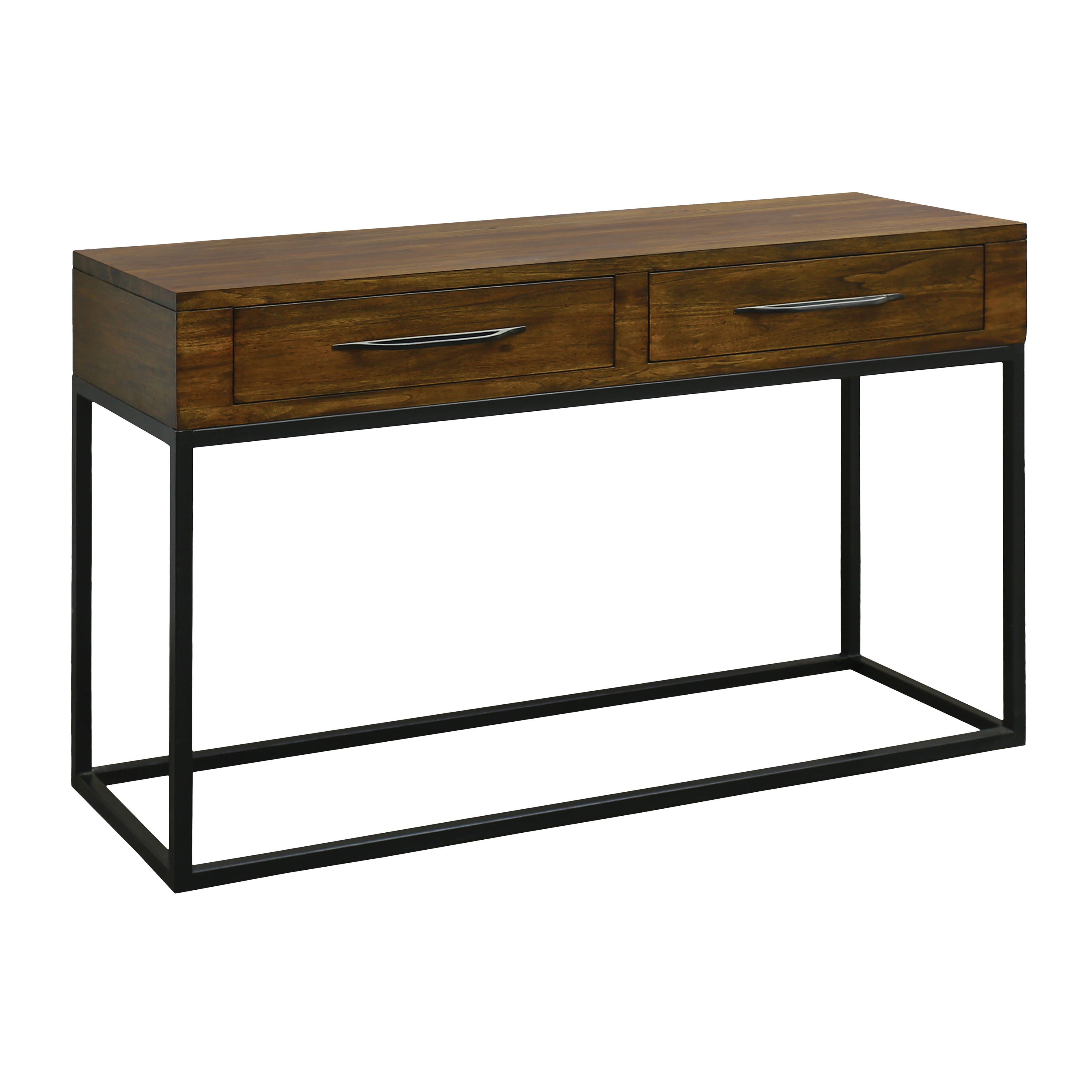 Stanley 2-Drawer Console Table in Wood and Metal | Elk Home