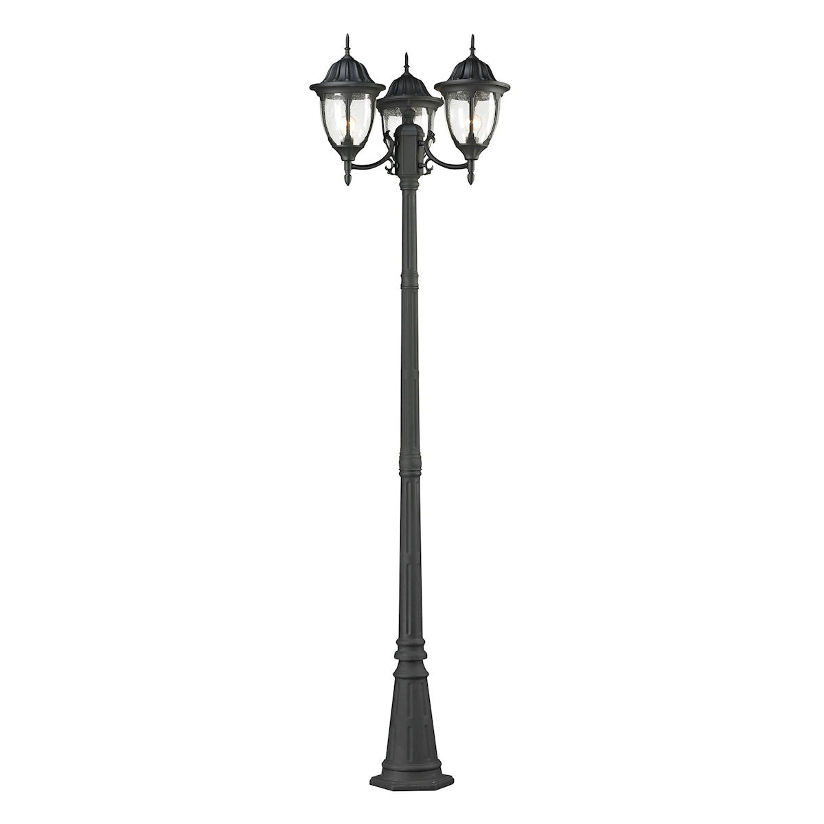 Central Square 3-Light Post Mount Lantern in Charcoal | Thomas Lighting